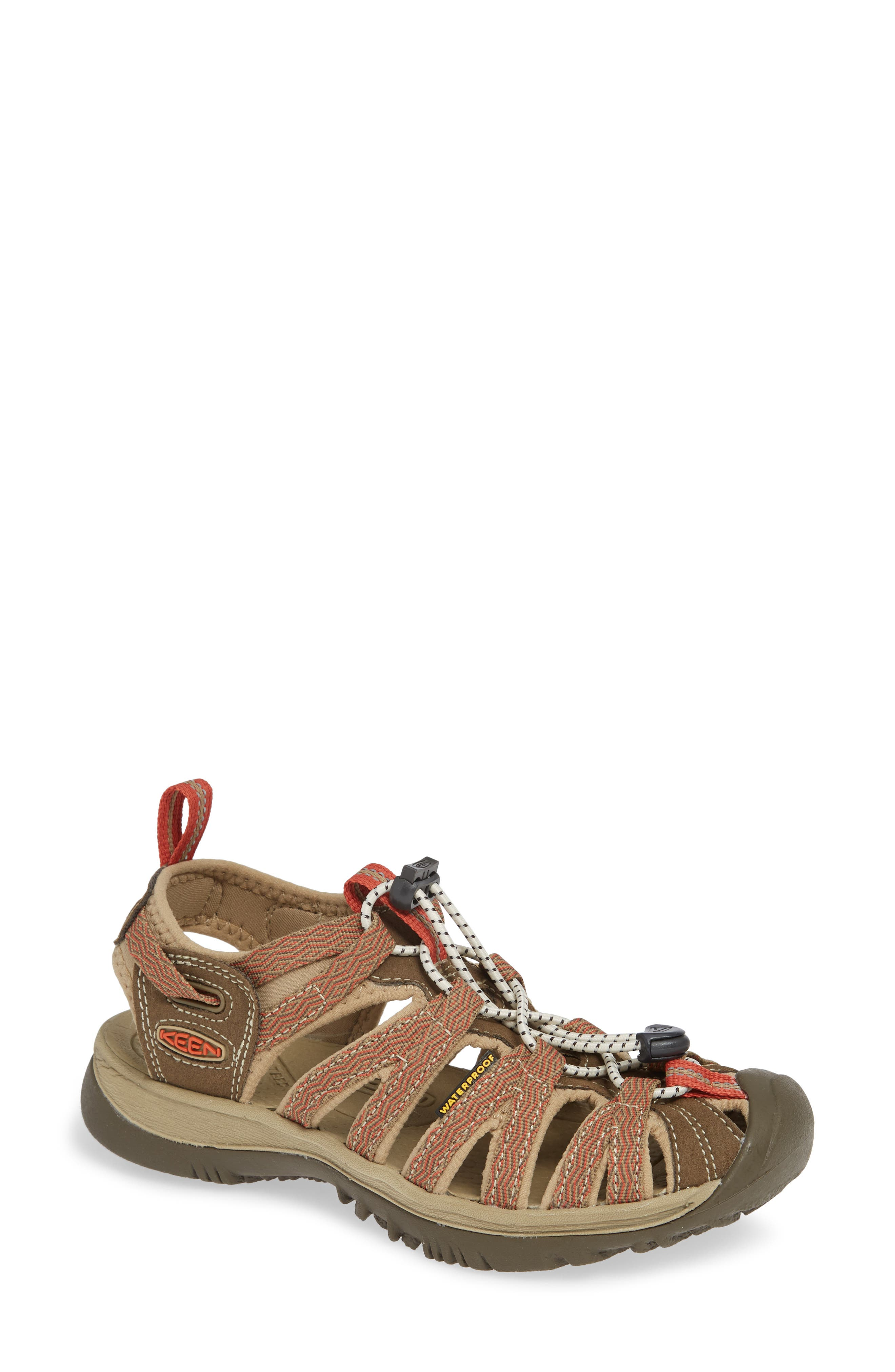 KEEN 'Whisper' Water Friendly Sport Sandal, Main, color, CANTEEN/ LANGOUSTINO