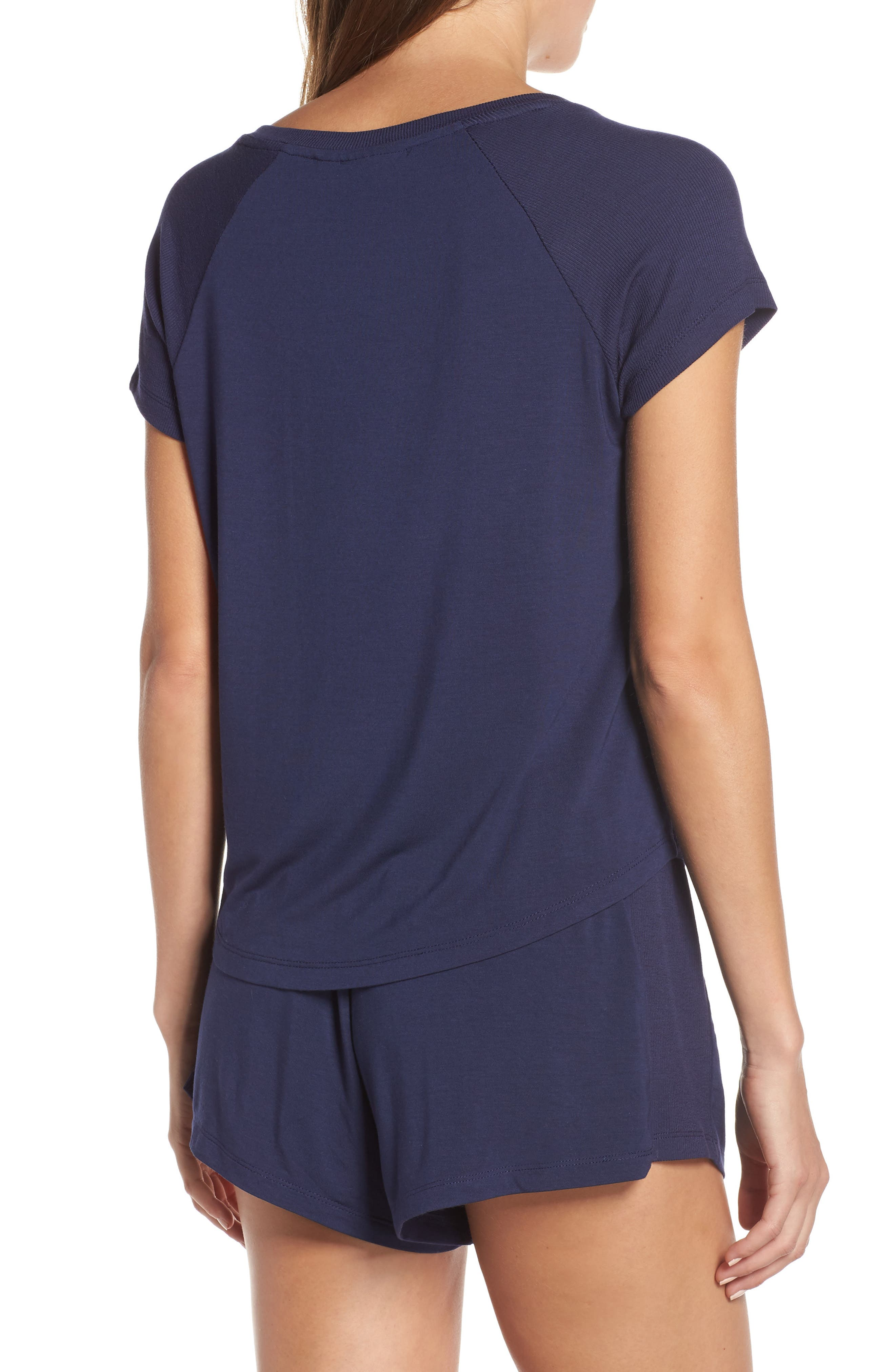 NORDSTROM LINGERIE, Breathe Rib Mix Short Pajamas, Alternate thumbnail 2, color, 410