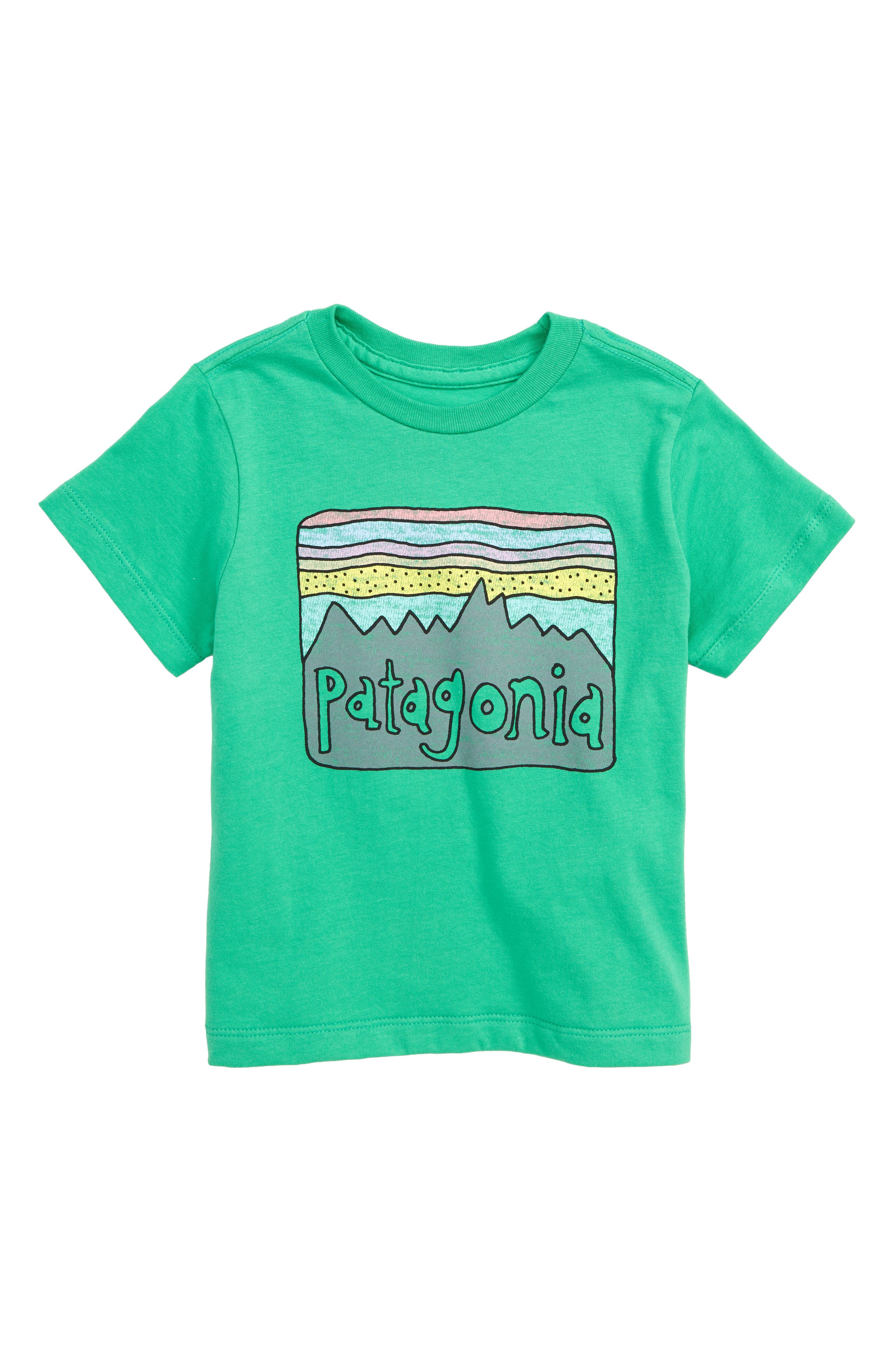 PATAGONIA, Fitz Roy Skies Graphic Organic Cotton T-Shirt, Main thumbnail 1, color, 300