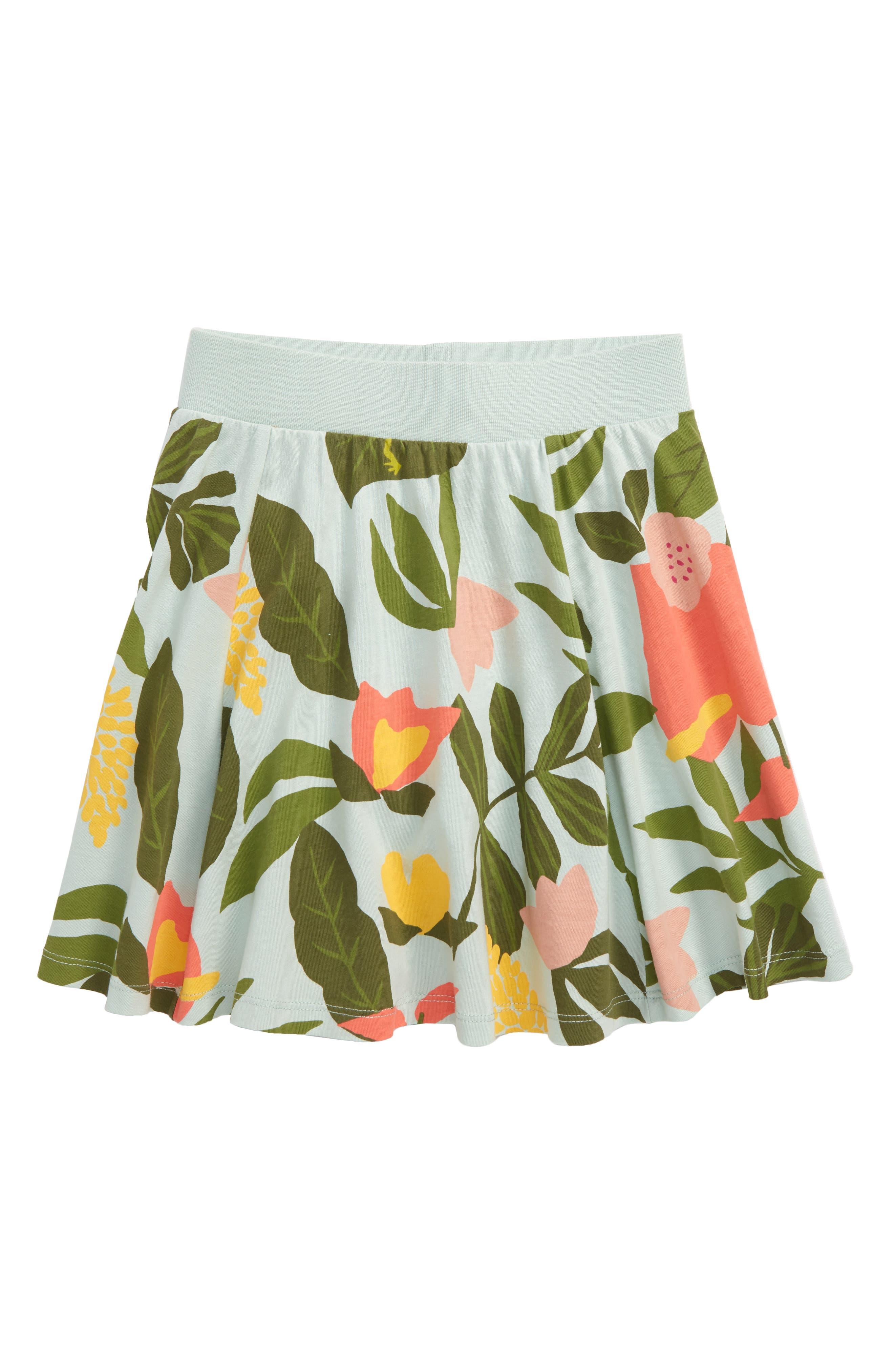 Toddler Girls Tea Collection Print Twirl Skort Size 2T  Green