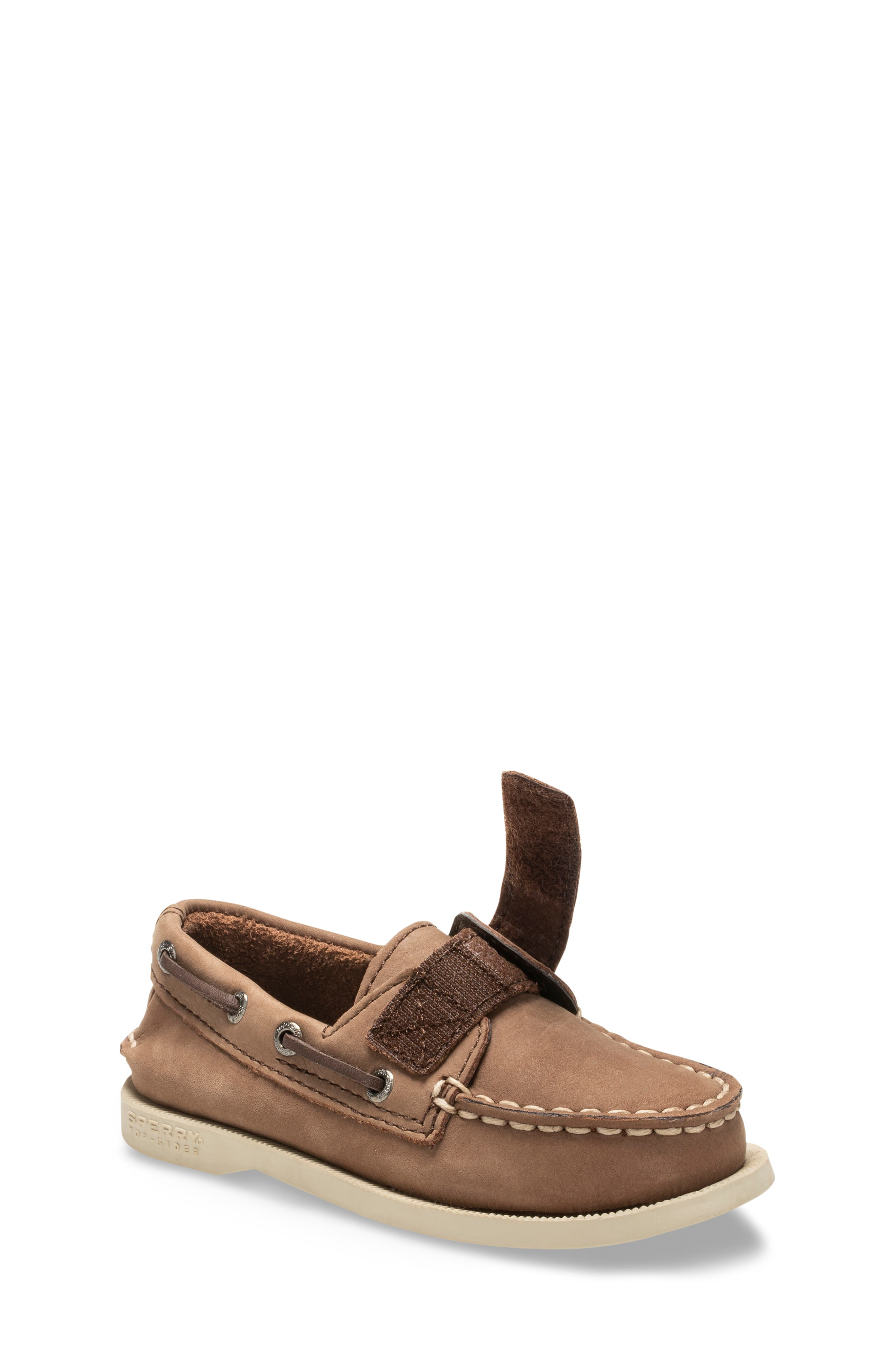 SPERRY KIDS, Sperry Top-Sider<sup>®</sup> Kids 'Authentic Original' Boat Shoe, Alternate thumbnail 2, color, BROWN