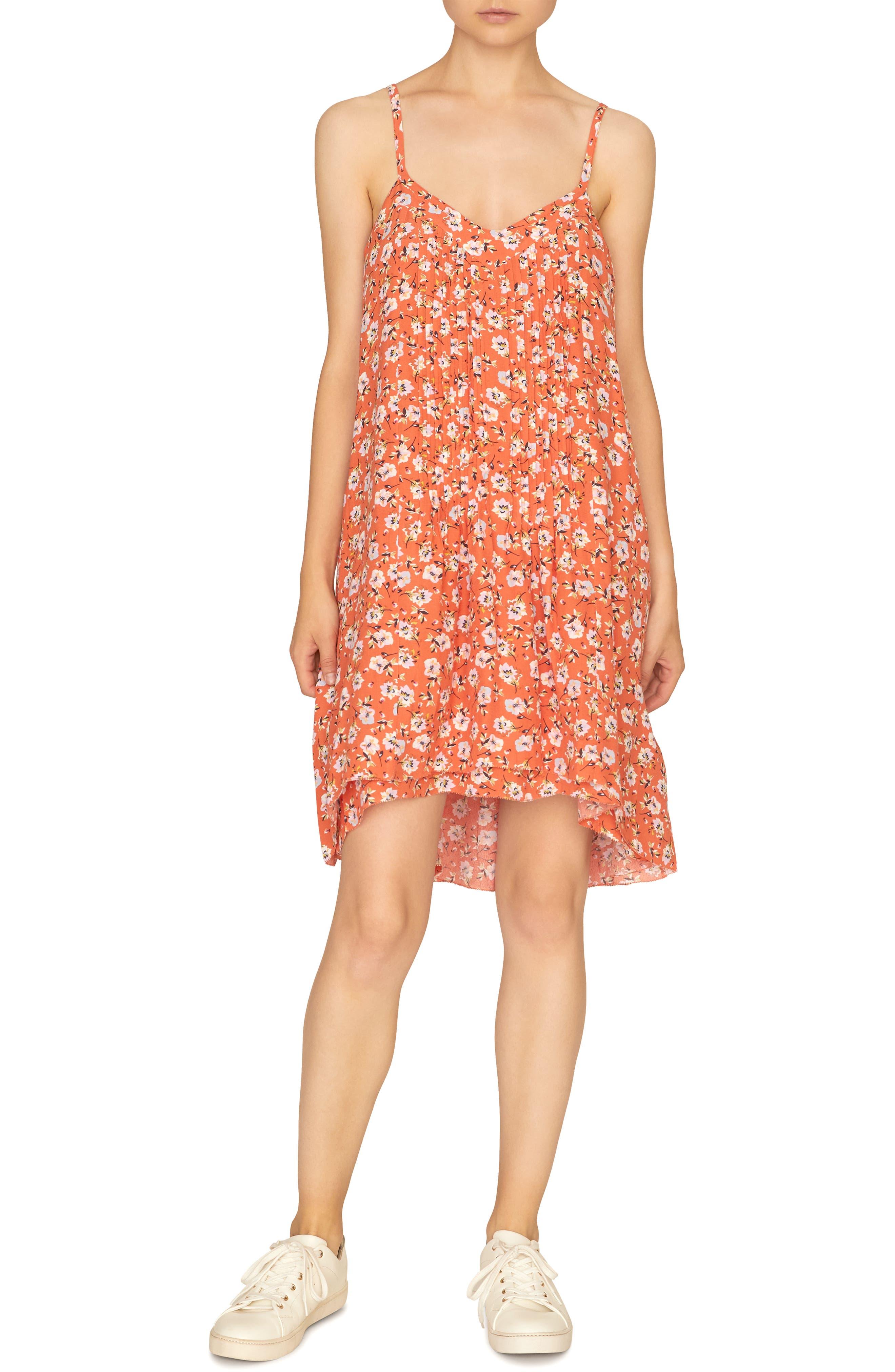 Petite Sanctuary Spring Ahead Tank Dress, Orange
