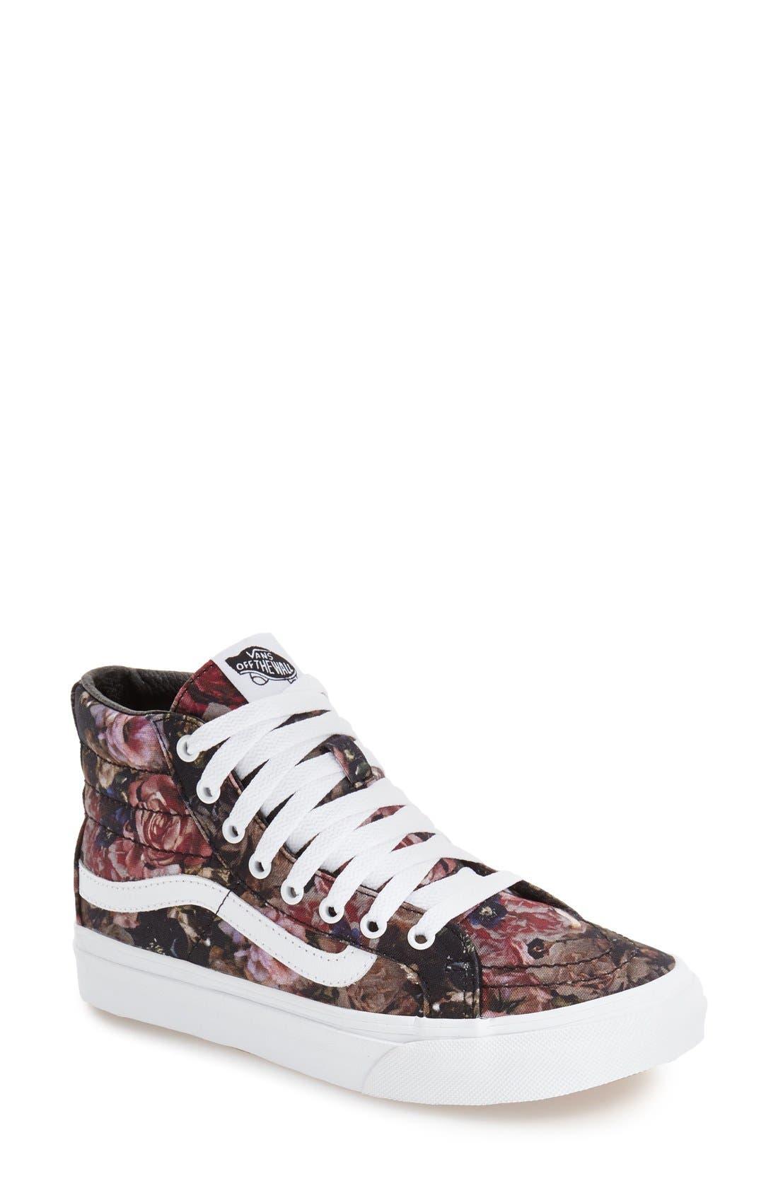 VANS Sk-8 Hi Slim Sneaker, Main, color, 001