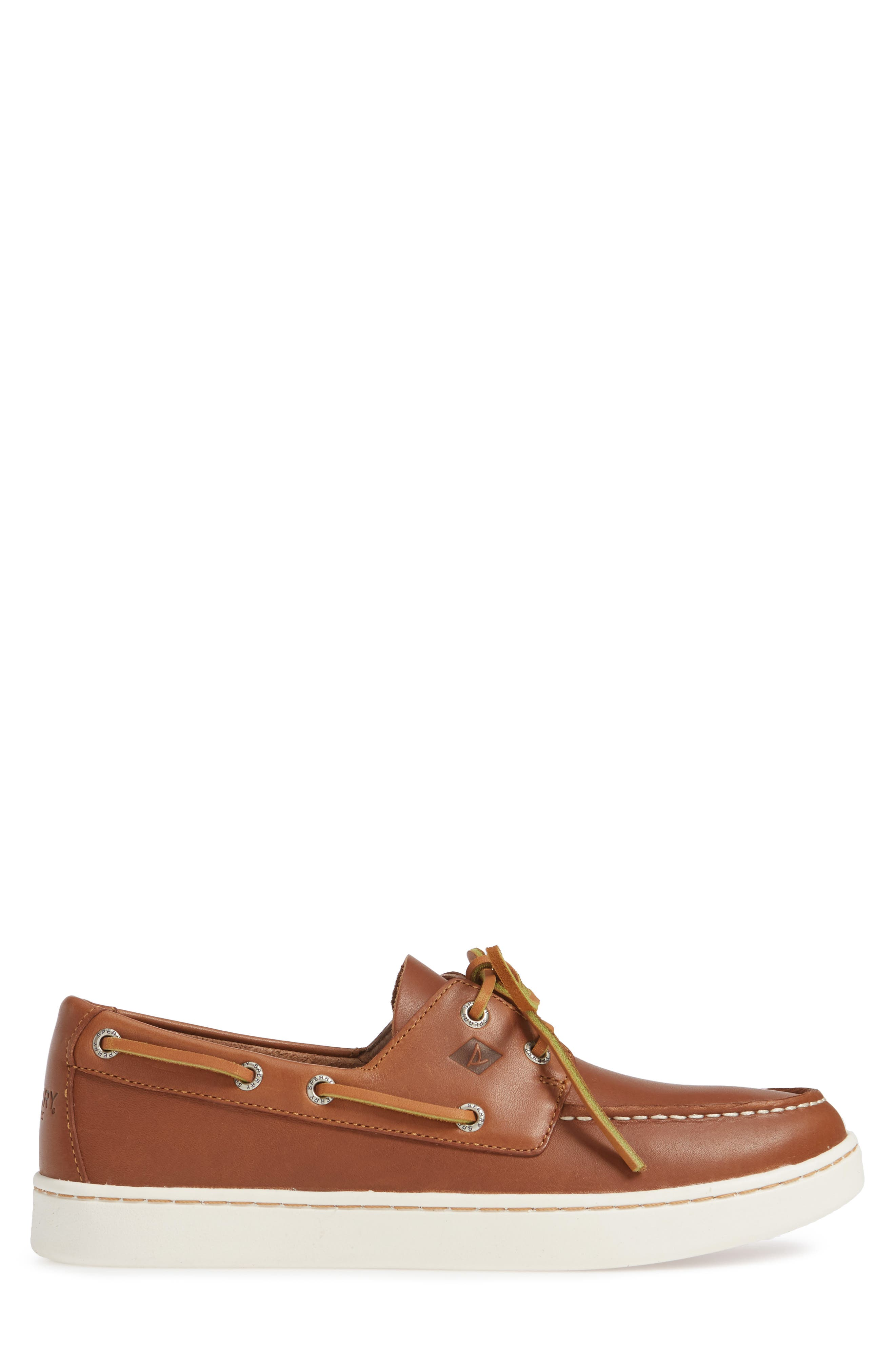 SPERRY, Cup Boat Shoe, Alternate thumbnail 3, color, TAN