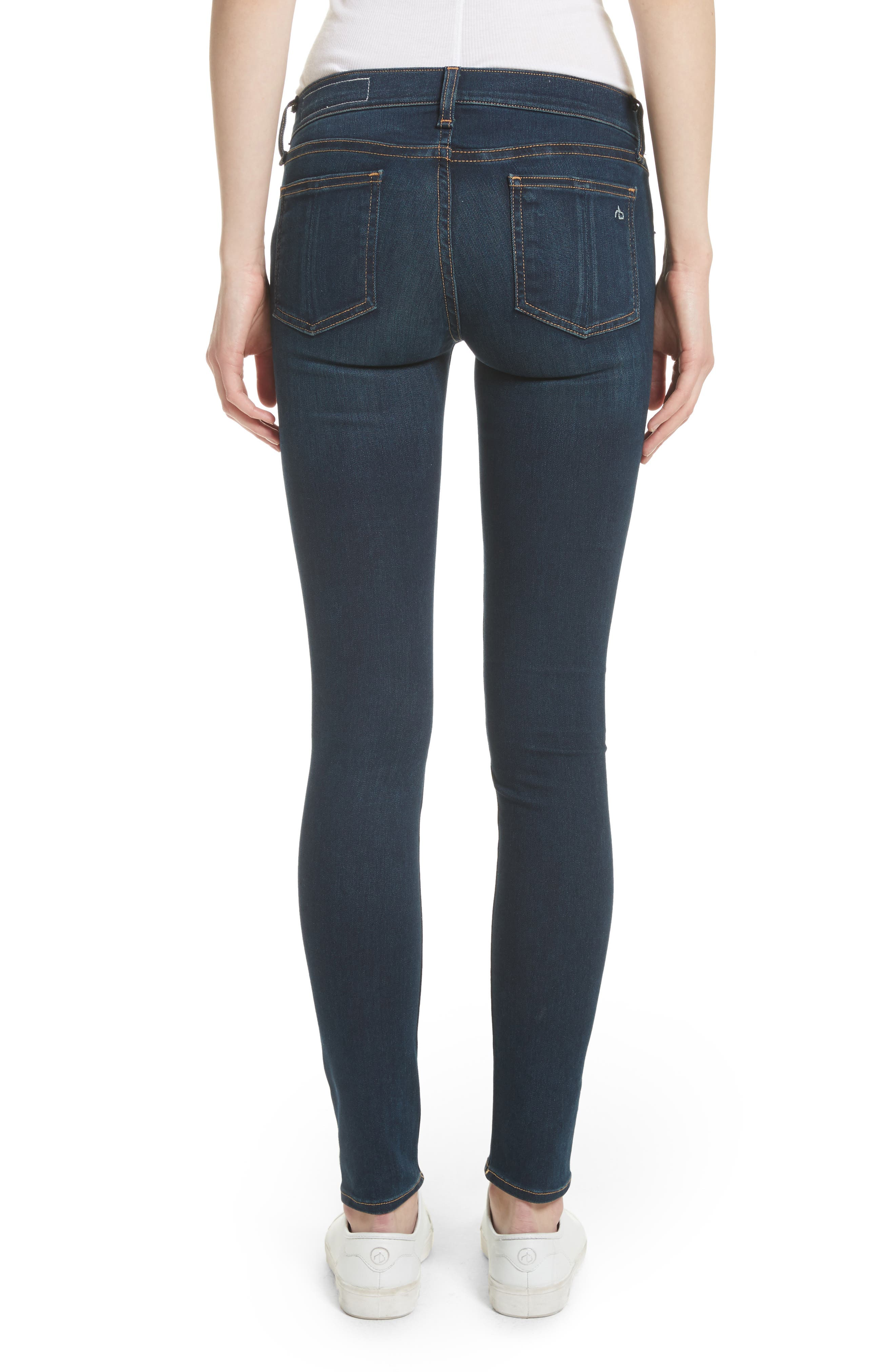 RAG & BONE, Skinny Stretch Jeans, Alternate thumbnail 2, color, BEDFORD