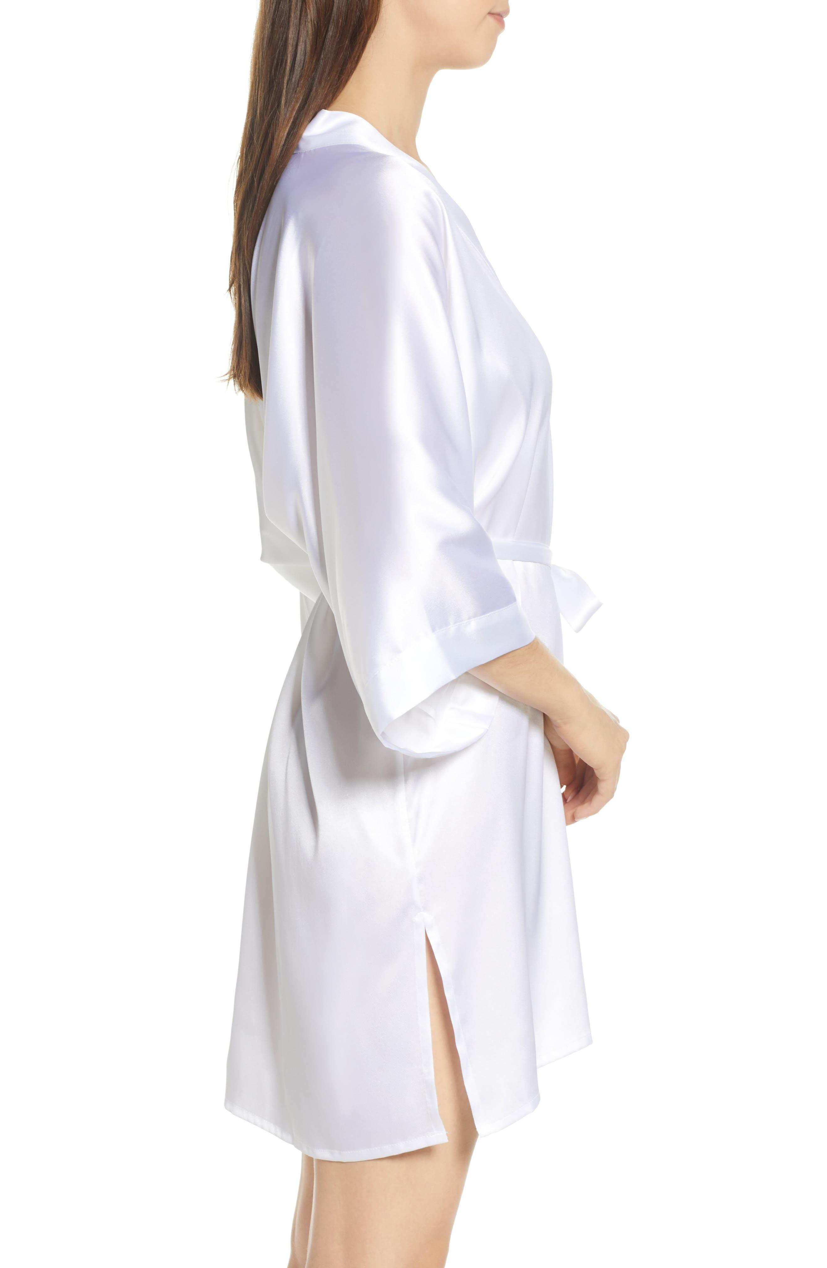 SAMANTHA CHANG, Kimono Robe, Alternate thumbnail 3, color, WHITE