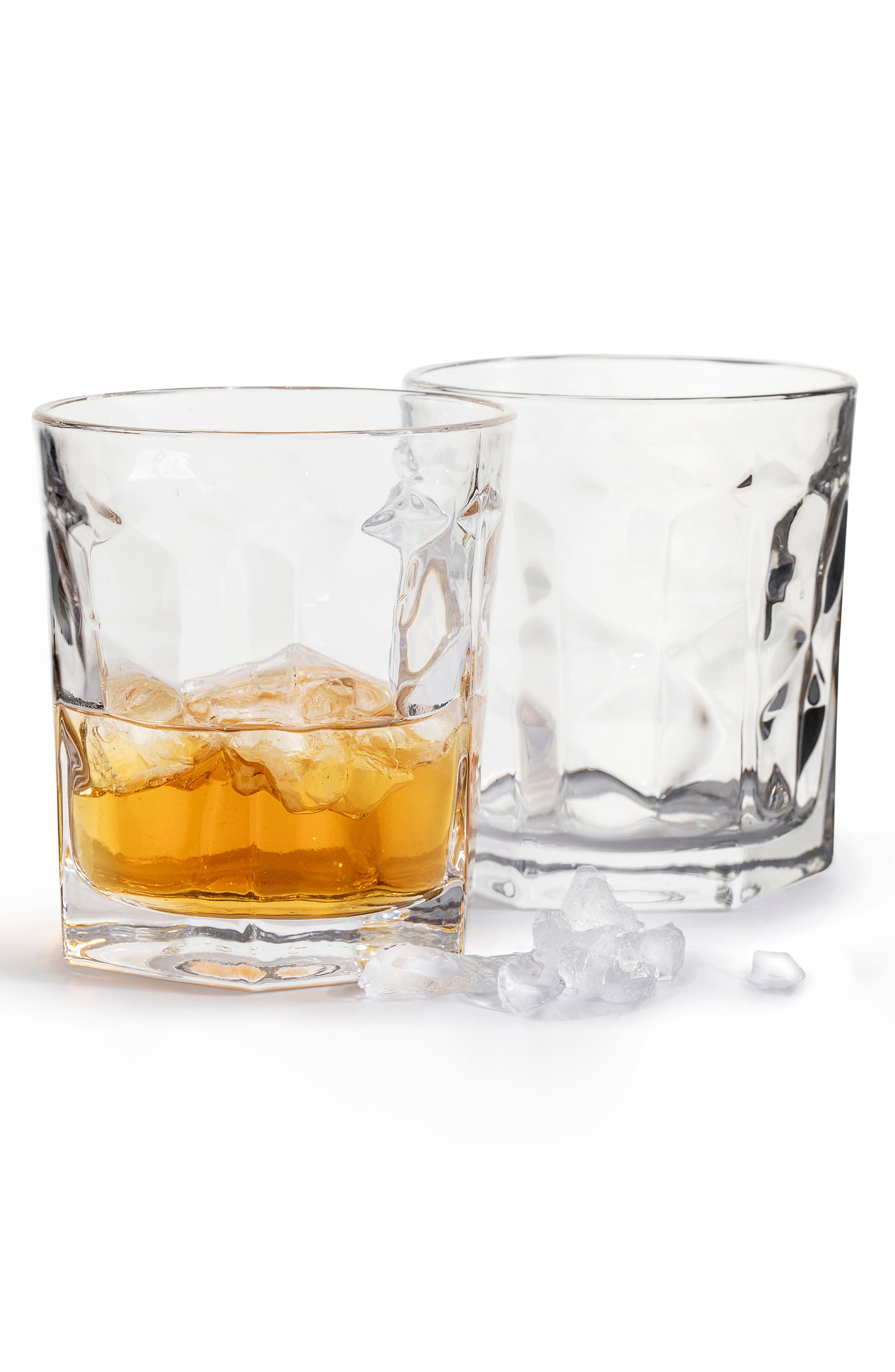 SAGAFORM Set of 2 Club Old Fashioned Glasses, Main, color, CLEAR