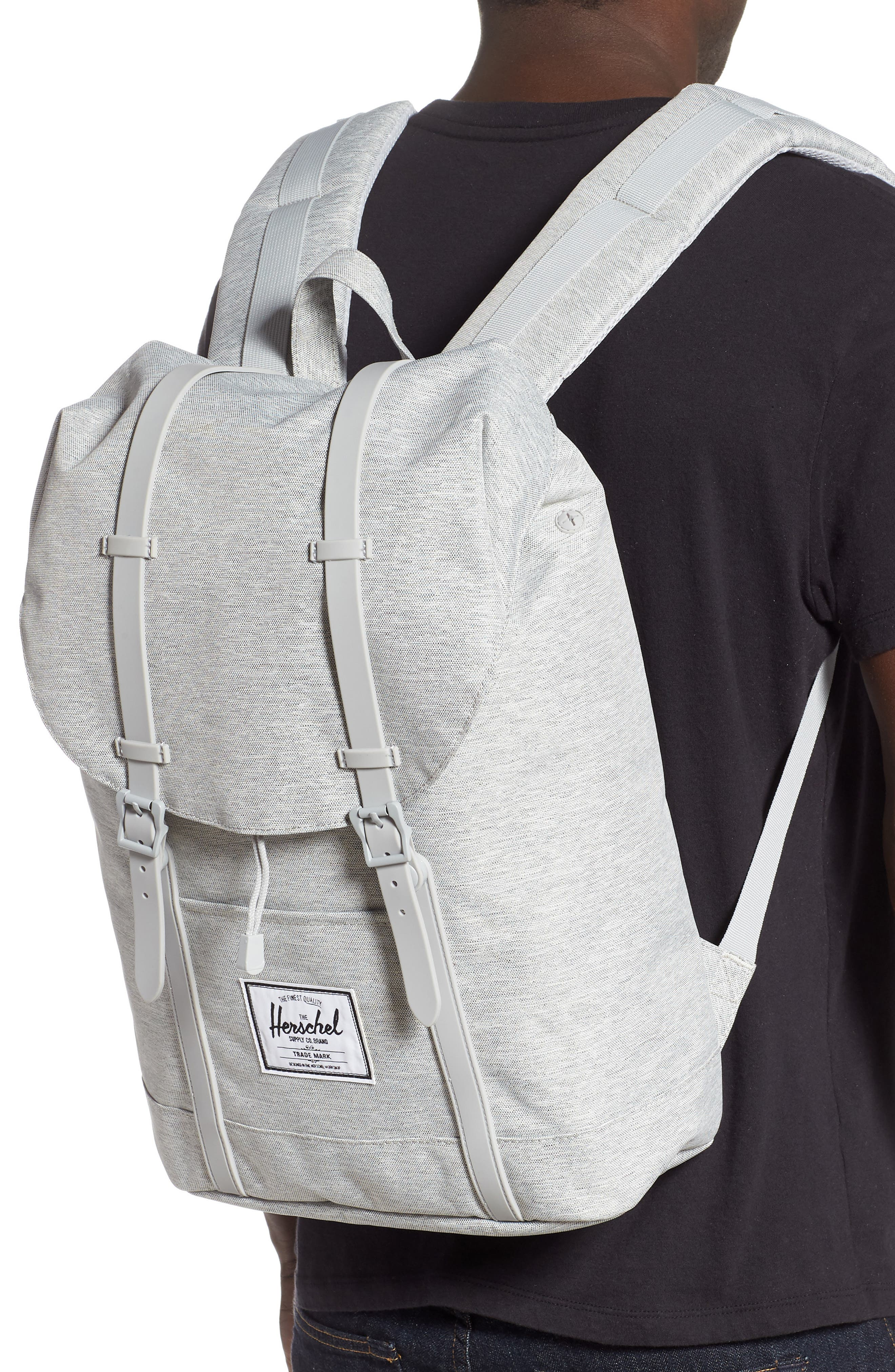 HERSCHEL SUPPLY CO., Retreat Backpack, Alternate thumbnail 2, color, LIGHT GREY CROSSHATCH/ GREY