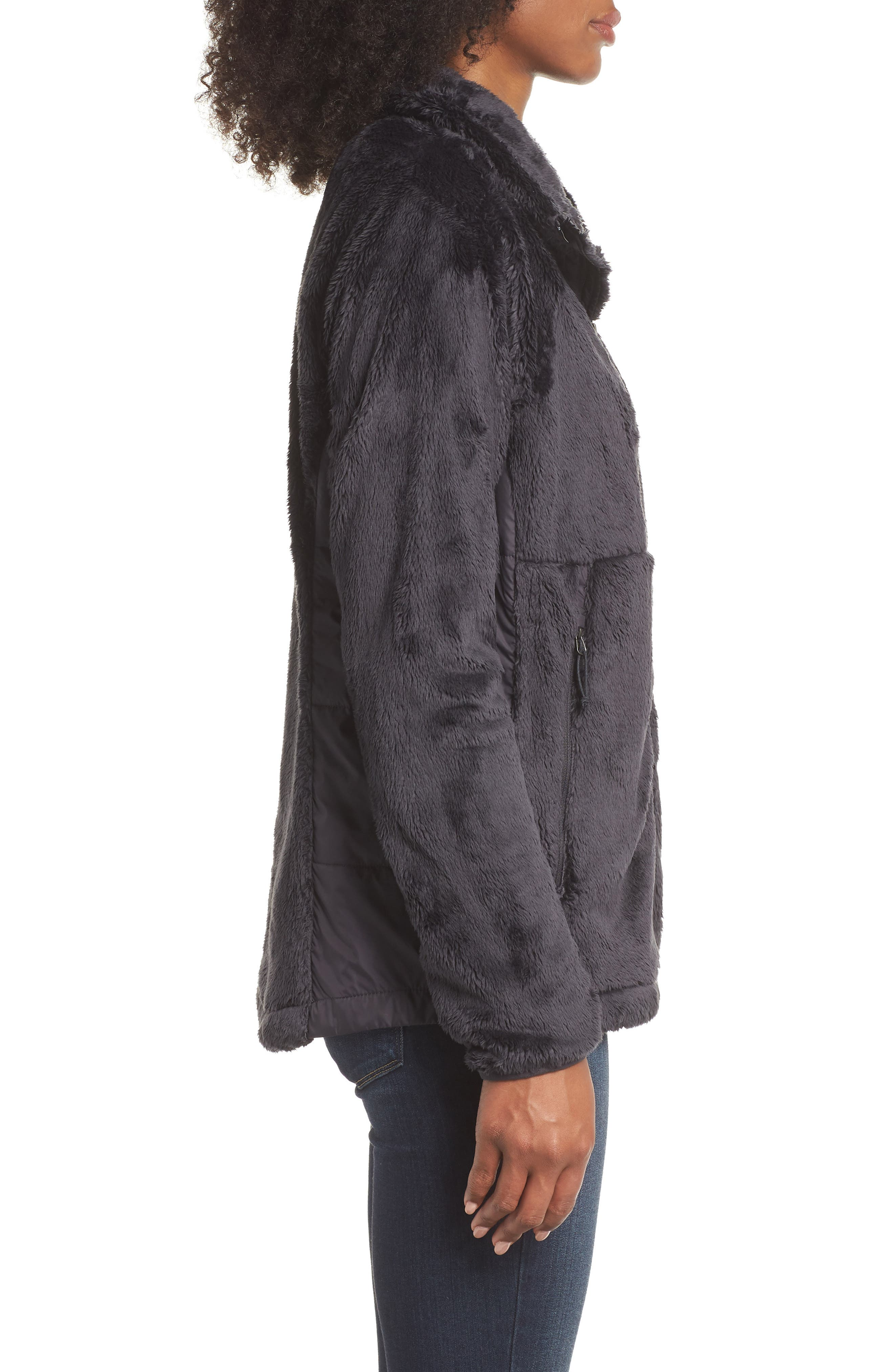 THE NORTH FACE, Osito Sport Hybrid Jacket, Alternate thumbnail 4, color, WEATHERED BLACK