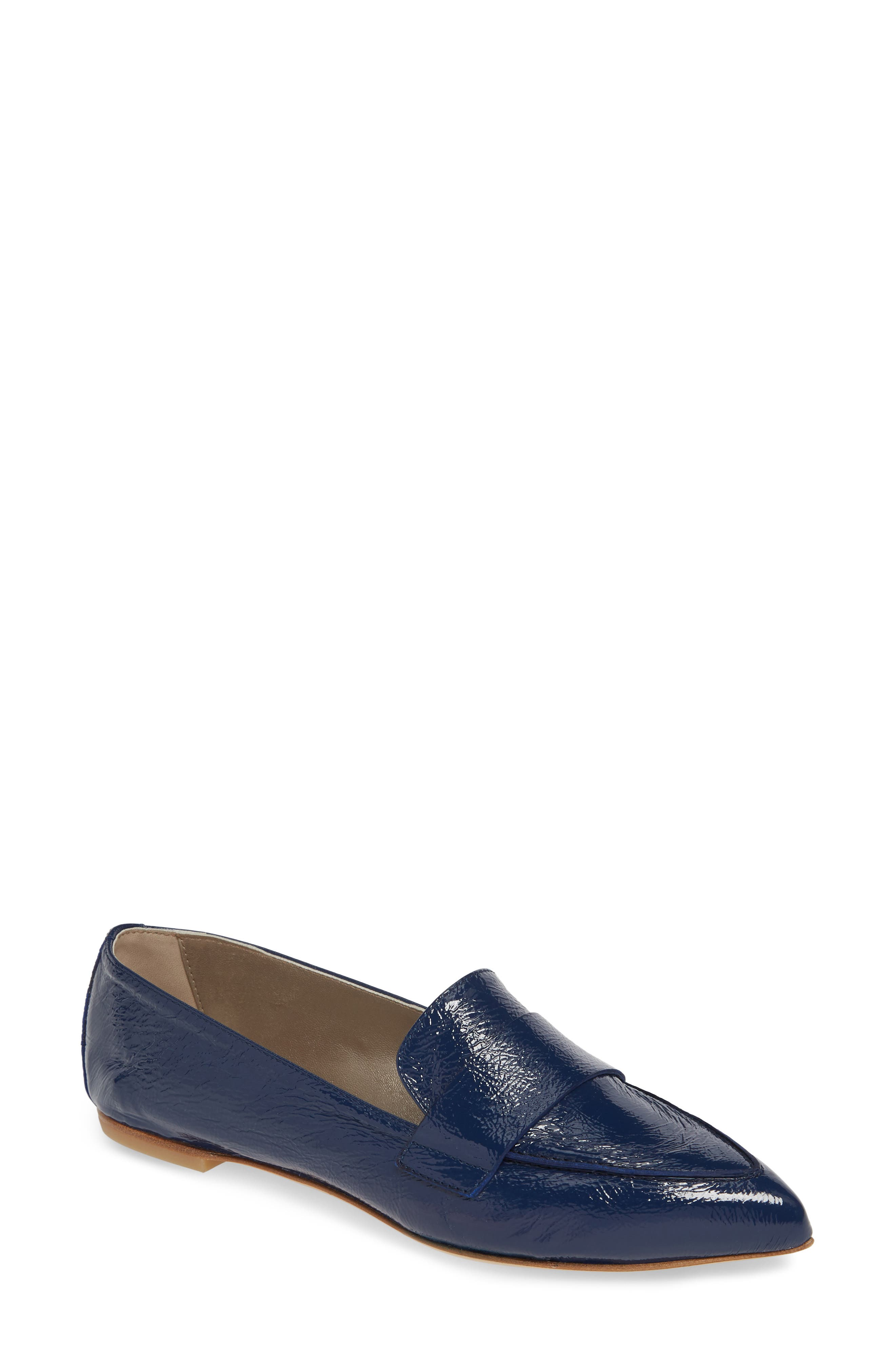 AGL, Softy Pointy Toe Moccasin Loafer, Main thumbnail 1, color, OCEAN PATENT