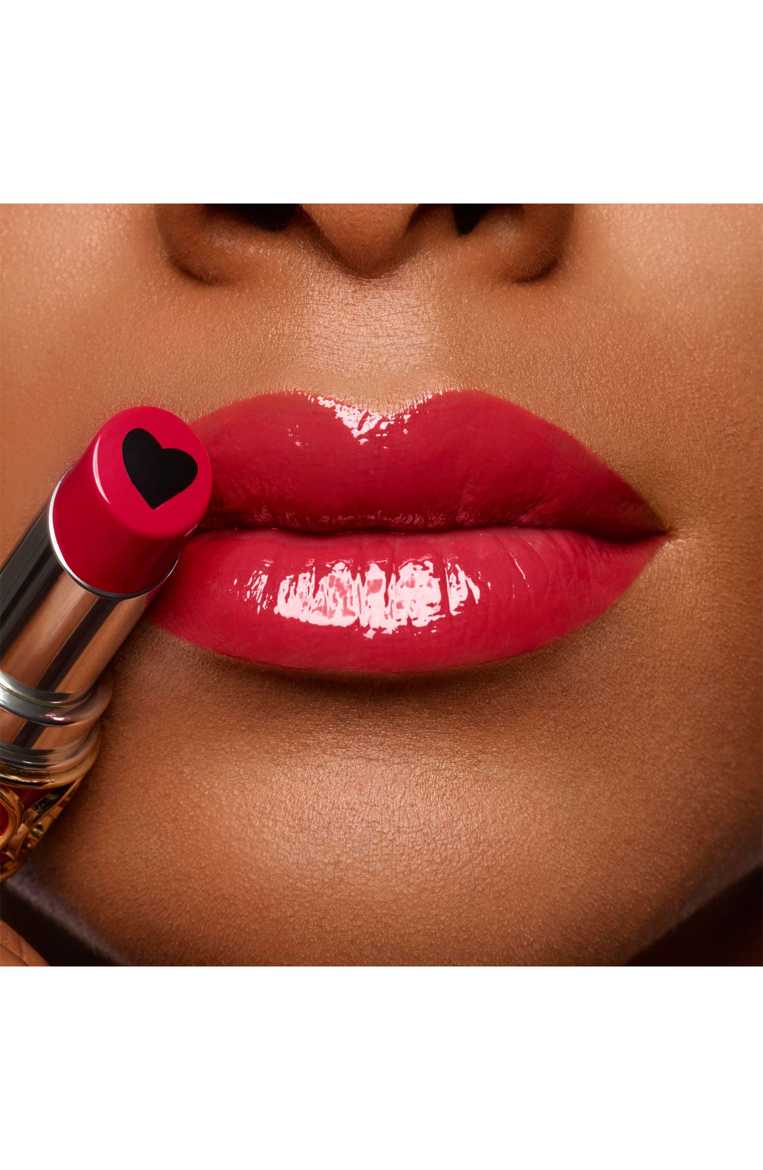 YVES SAINT LAURENT, Volupté Plump-in-Color Plumping Lip Balm, Alternate thumbnail 4, color, 06 LUNATIC RED
