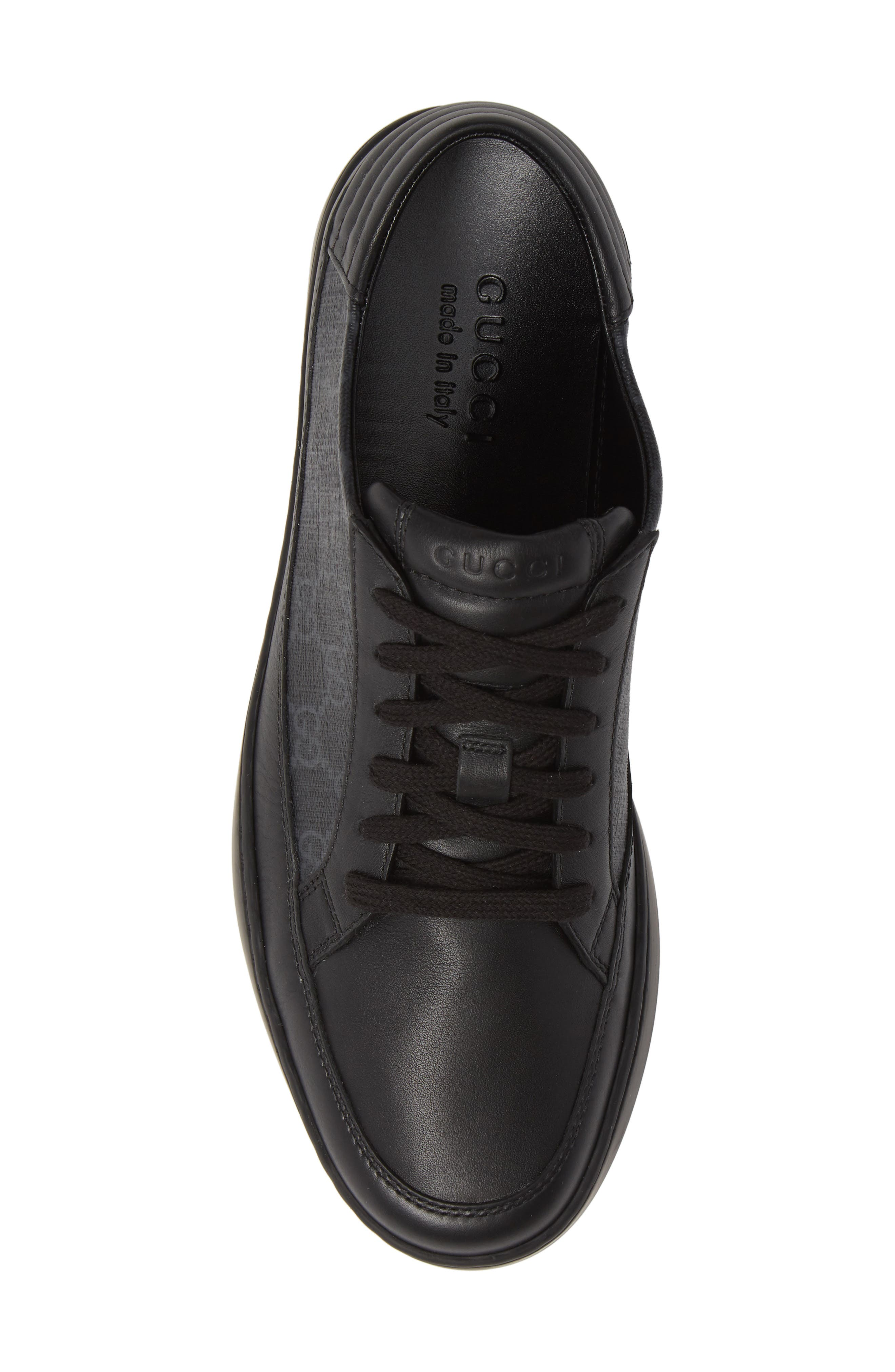 GUCCI, 'Common' Low-Top Sneaker, Alternate thumbnail 5, color, NERO/ BLACK