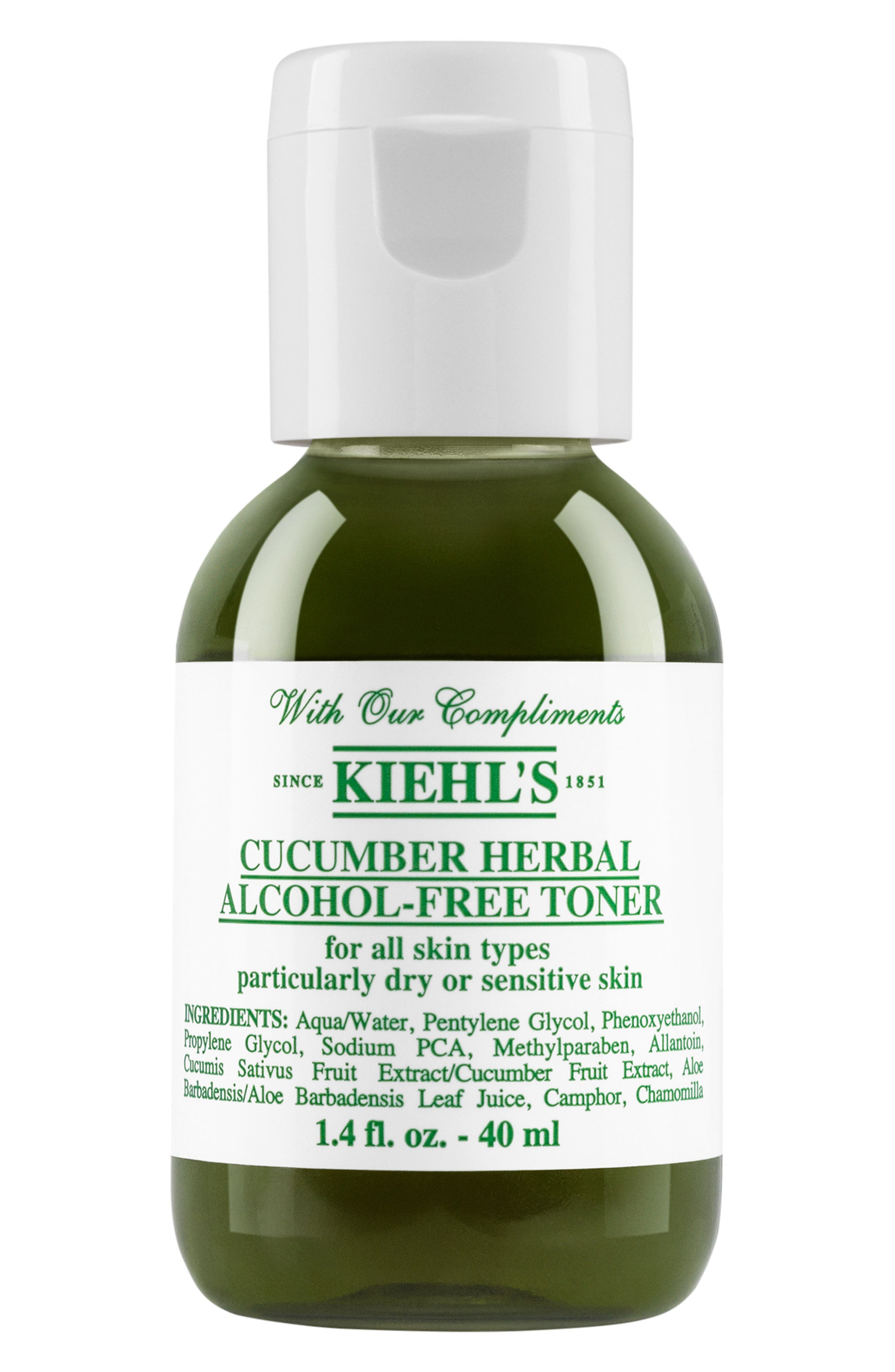KIEHL'S SINCE 1851, Cucumber Herbal Alcohol-Free Toner, Alternate thumbnail 3, color, NO COLOR
