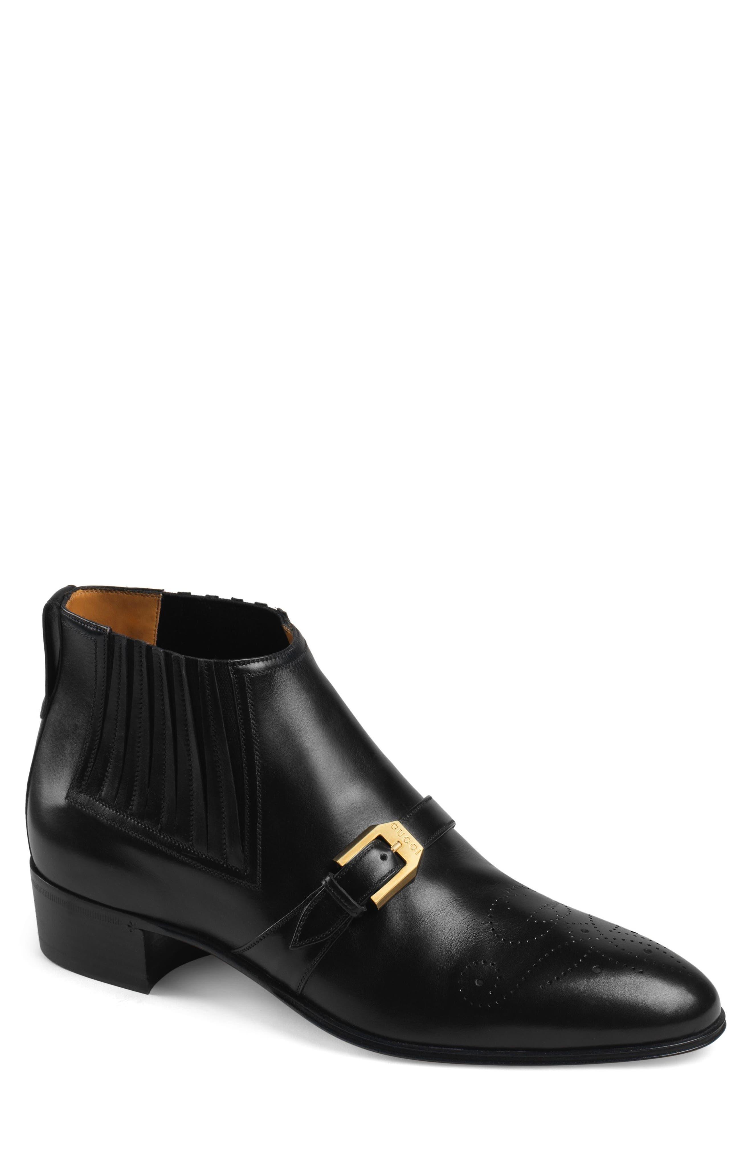 Gucci Worsh Chelsea Boot, Black