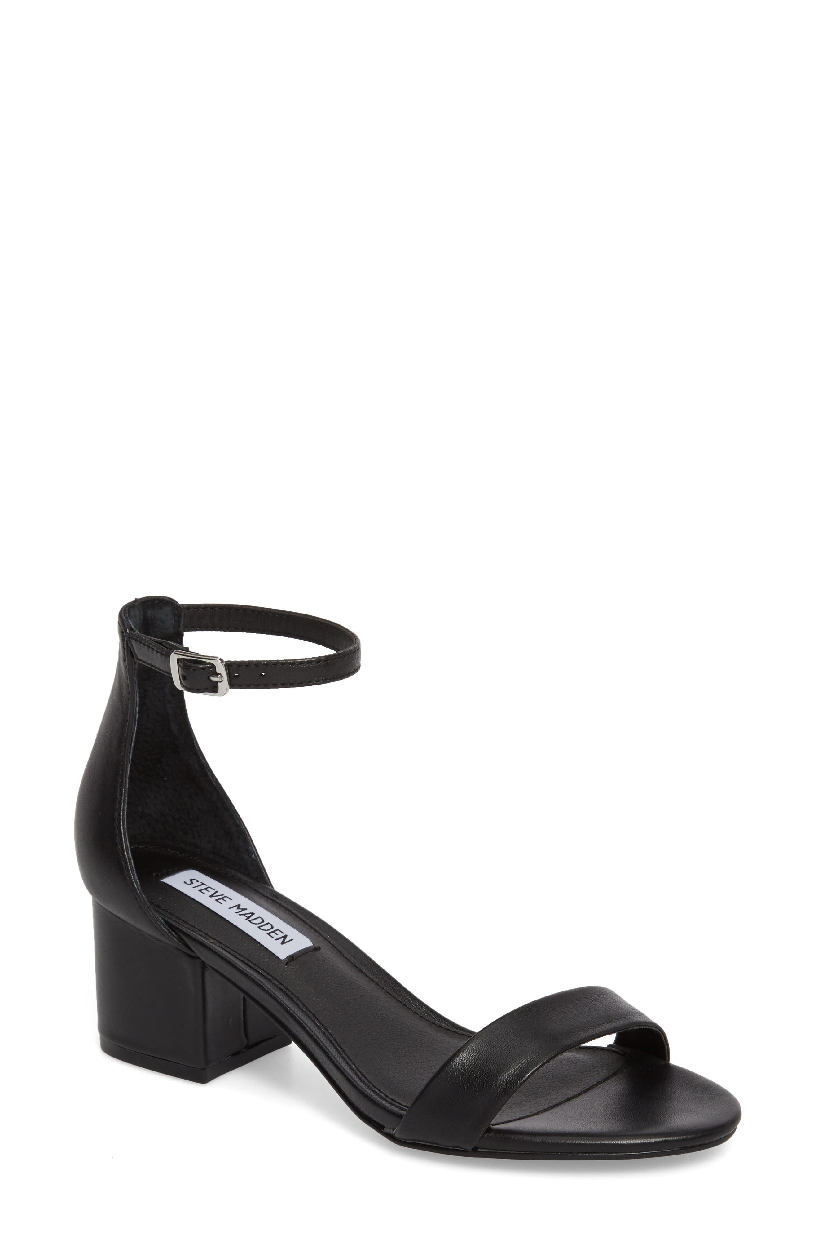 STEVE MADDEN Irenee Ankle Strap Sandal, Main, color, 001