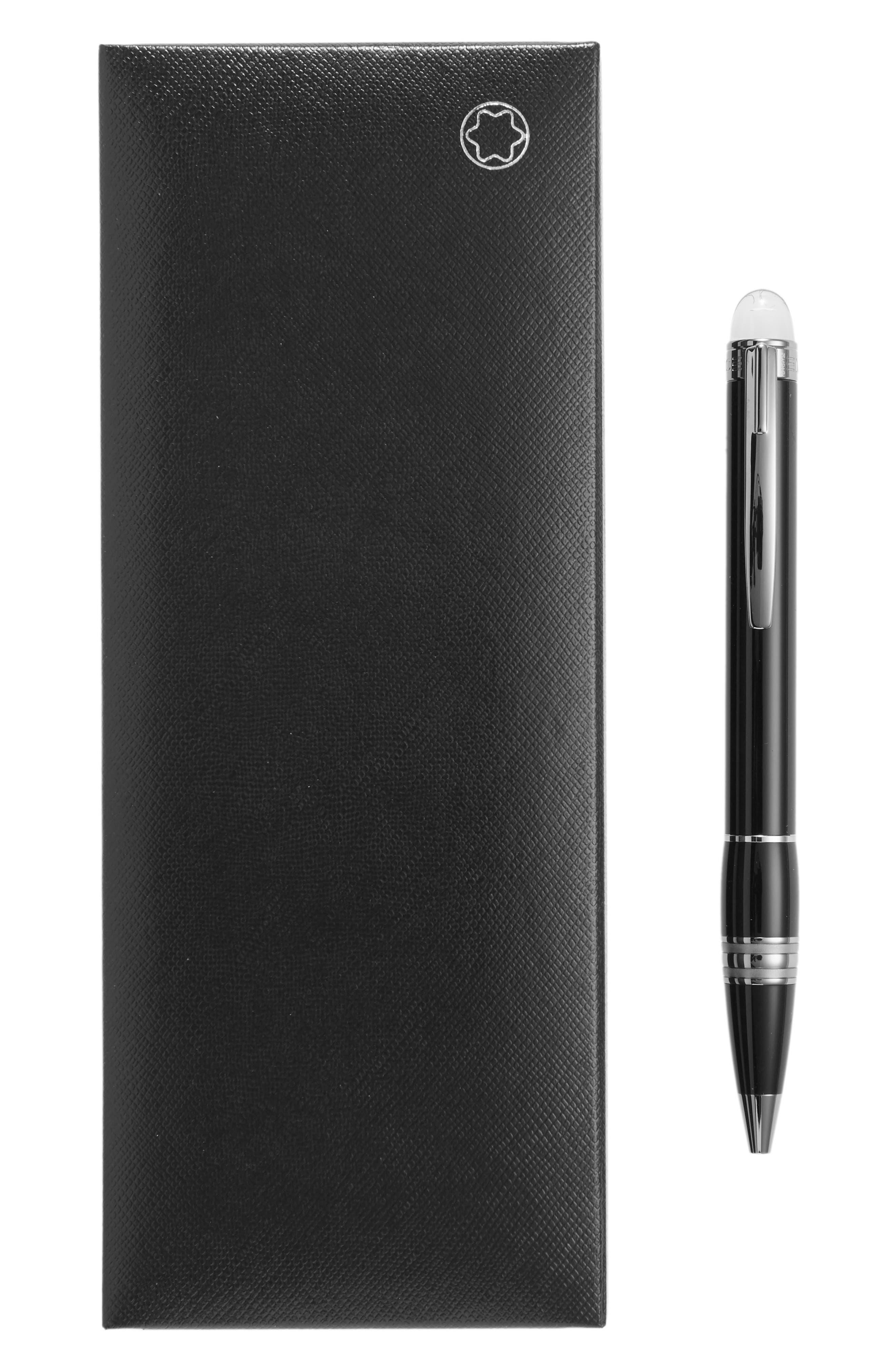 MONTBLANC, StarWalker Midnight Black Ballpoint Pen, Alternate thumbnail 2, color, BLACK