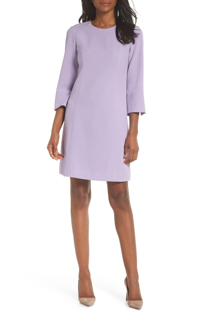 VINCE CAMUTO Kors Crepe Shift Dress, Main, color, LILAC