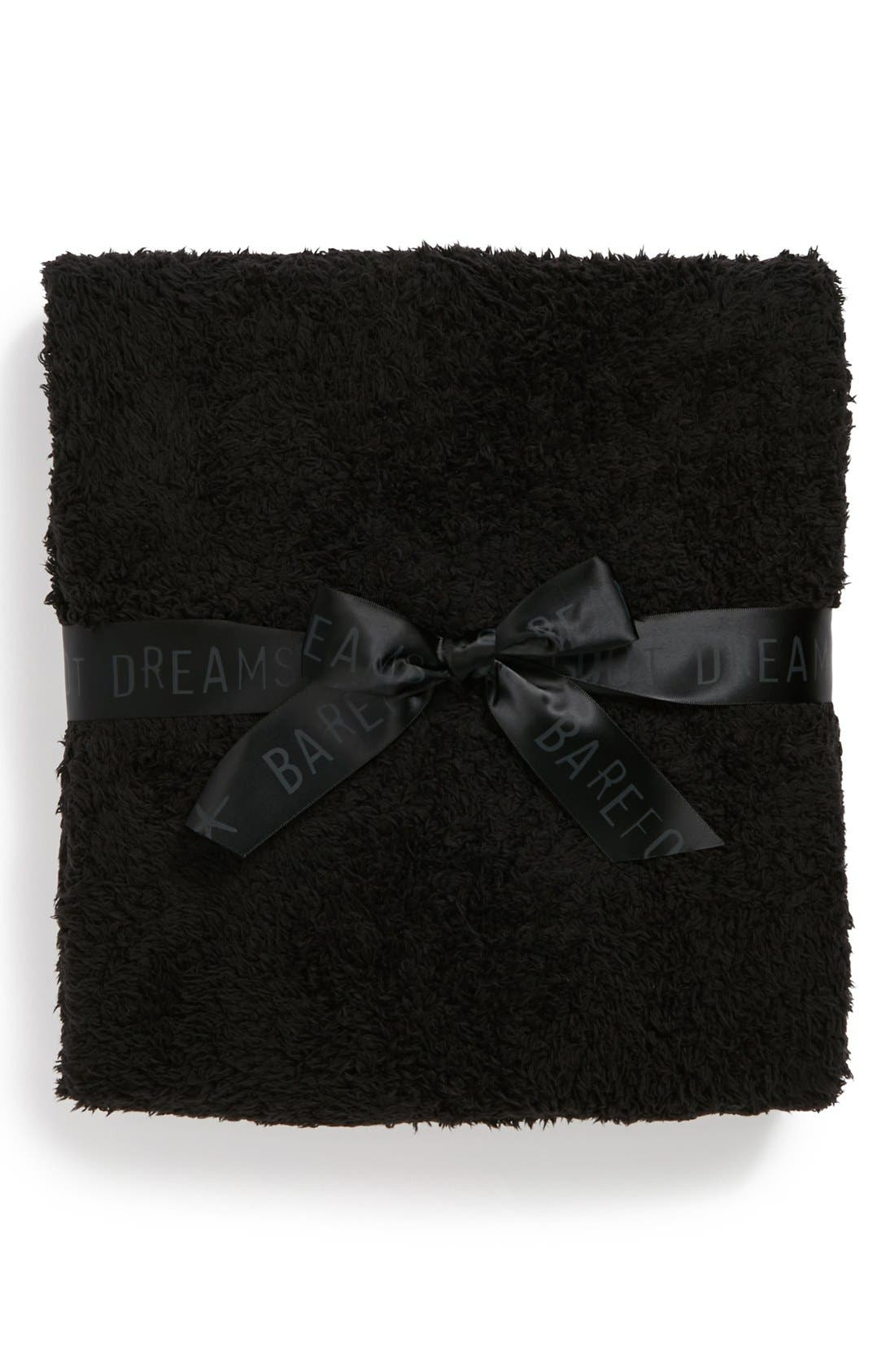 BAREFOOT DREAMS<SUP>®</SUP>, CozyChic<sup>®</sup> Travel Shawl, Alternate thumbnail 3, color, BLACK