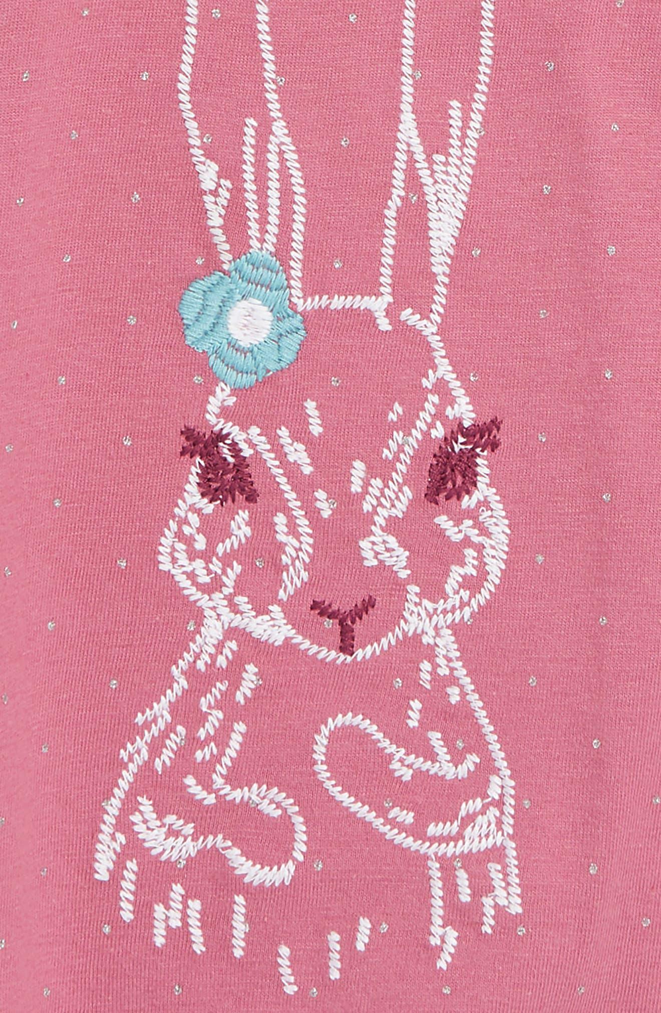 HATLEY, Pretty Bunny Organic Cotton T-Shirt, Alternate thumbnail 2, color, 650