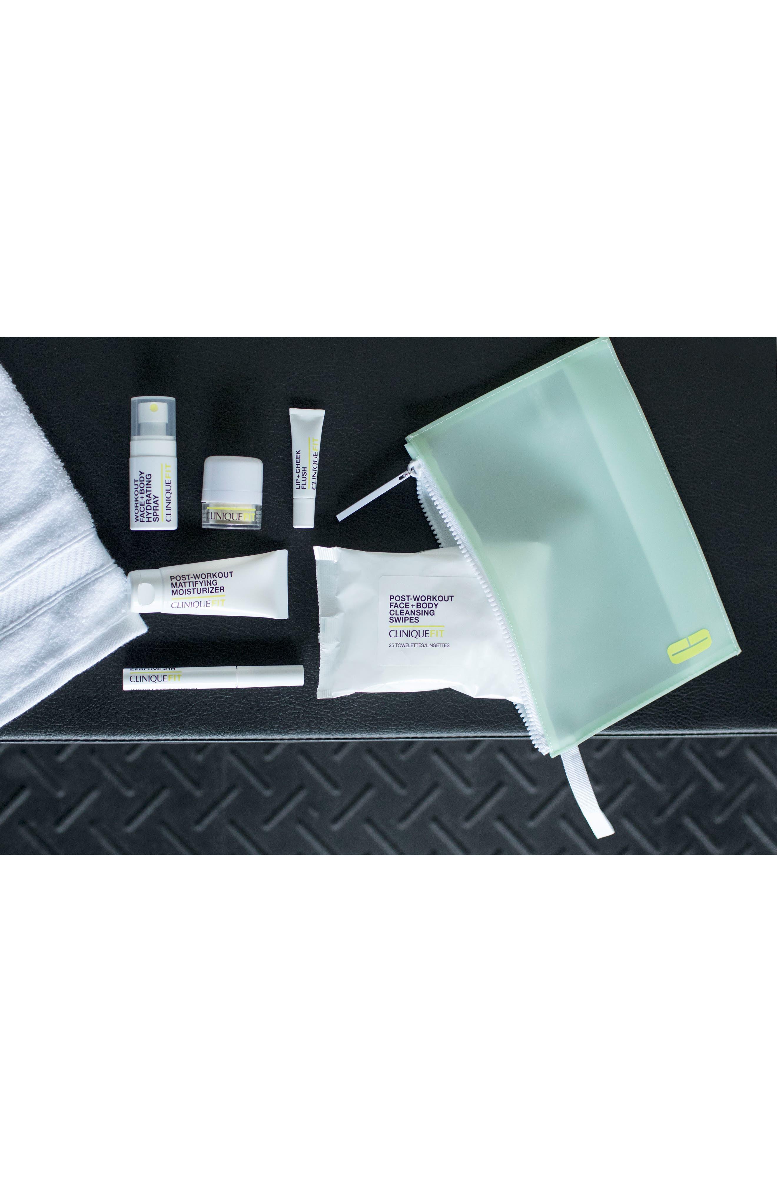 CLINIQUE, CliniqueFIT Workout Face + Body Hydrating Spray, Alternate thumbnail 4, color, NO COLOR