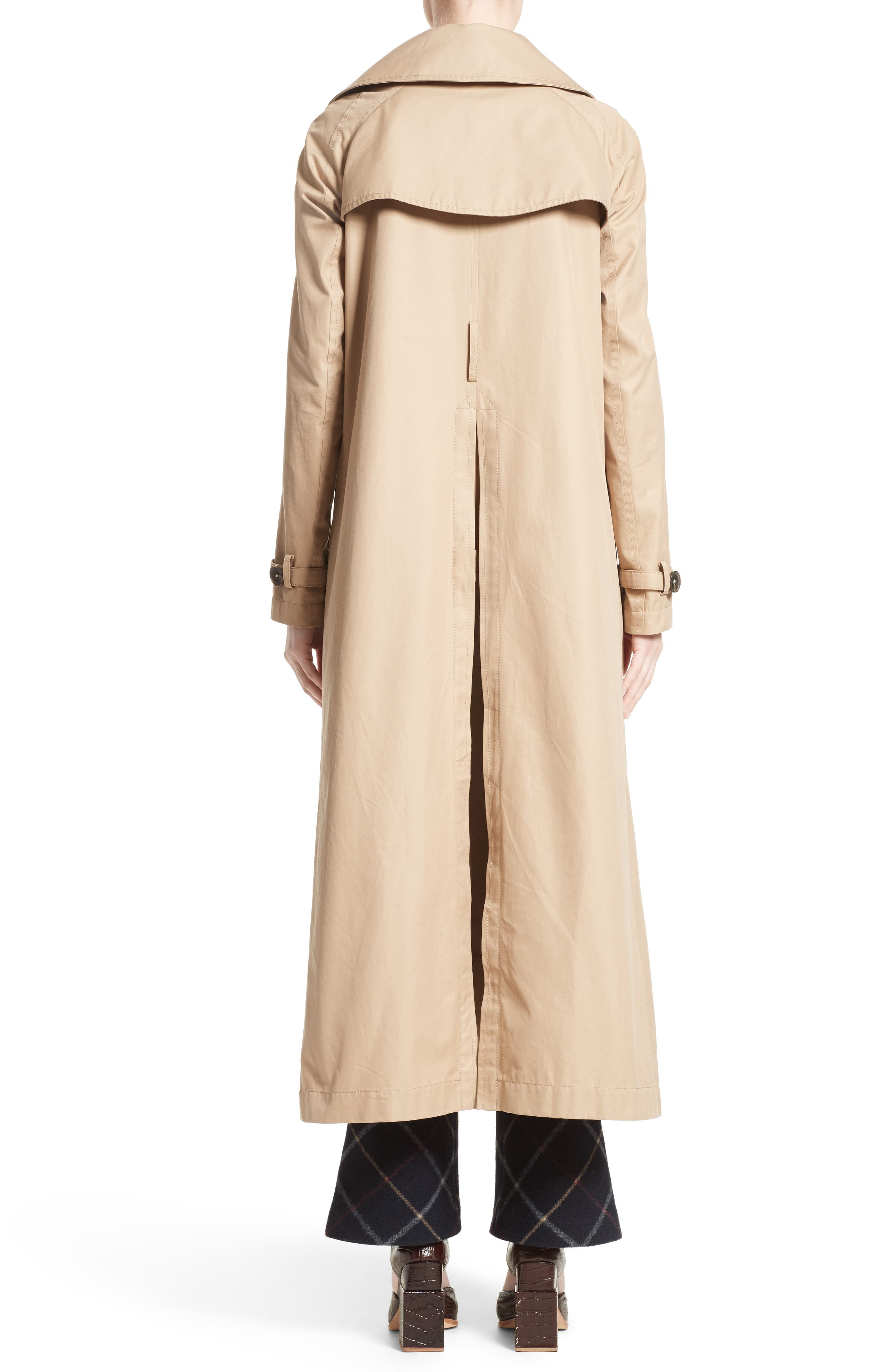 A.W.A.K.E., Oversized Cotton Trench Coat, Alternate thumbnail 2, color, 250