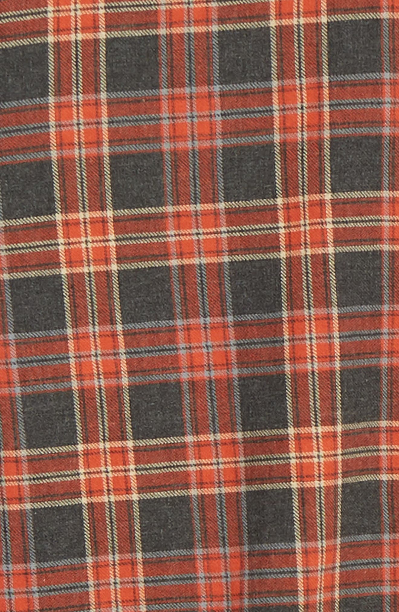 THE KOOPLES, Plaid Regular Fit Flannel Shirt, Alternate thumbnail 6, color, 800
