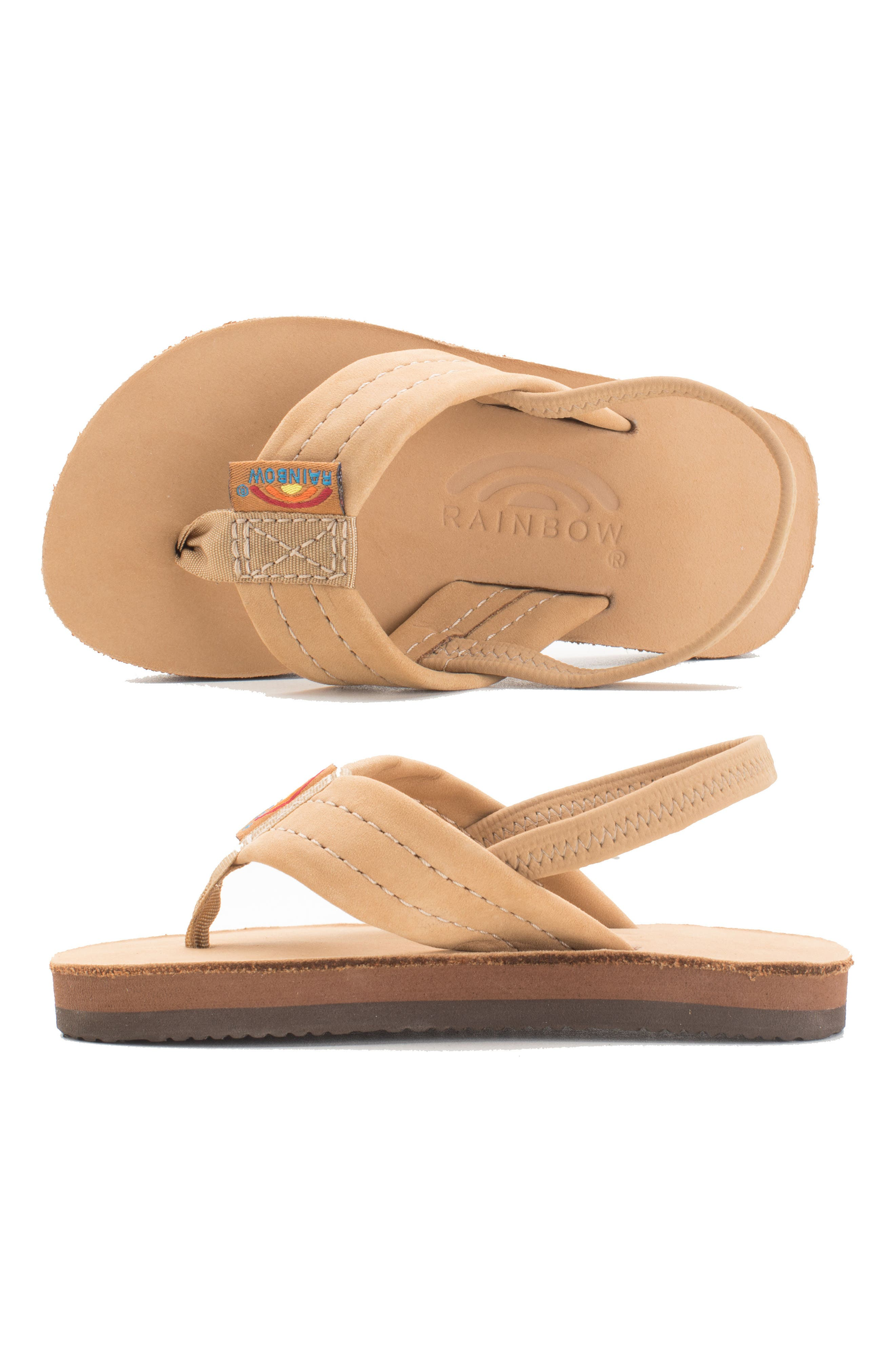 RAINBOW<SUP>®</SUP>, Rainbow Leather Sandal, Alternate thumbnail 12, color, EXPRESSO