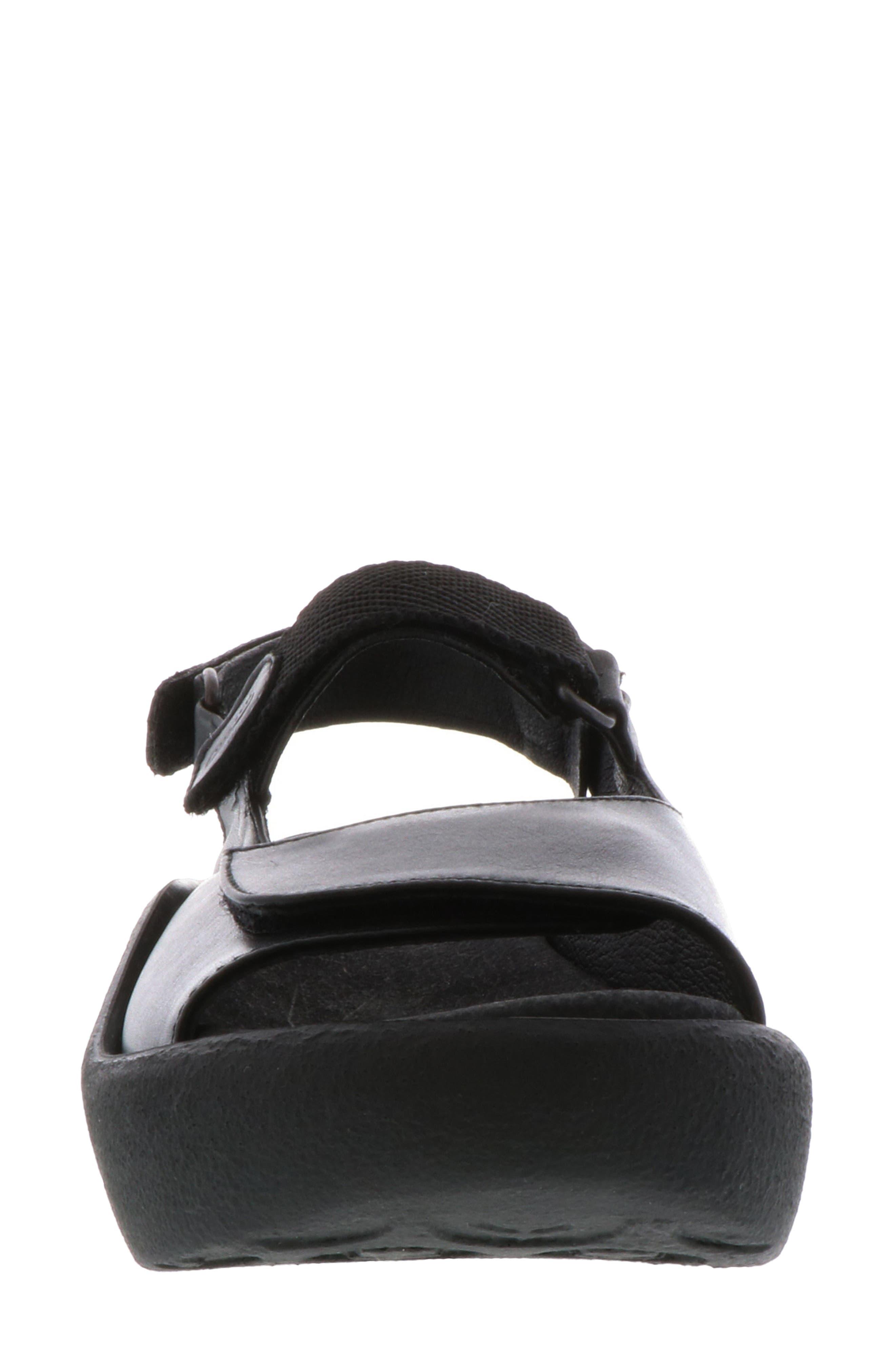 WOLKY, Jewel Sport Sandal, Alternate thumbnail 4, color, BLACK/ BLACK