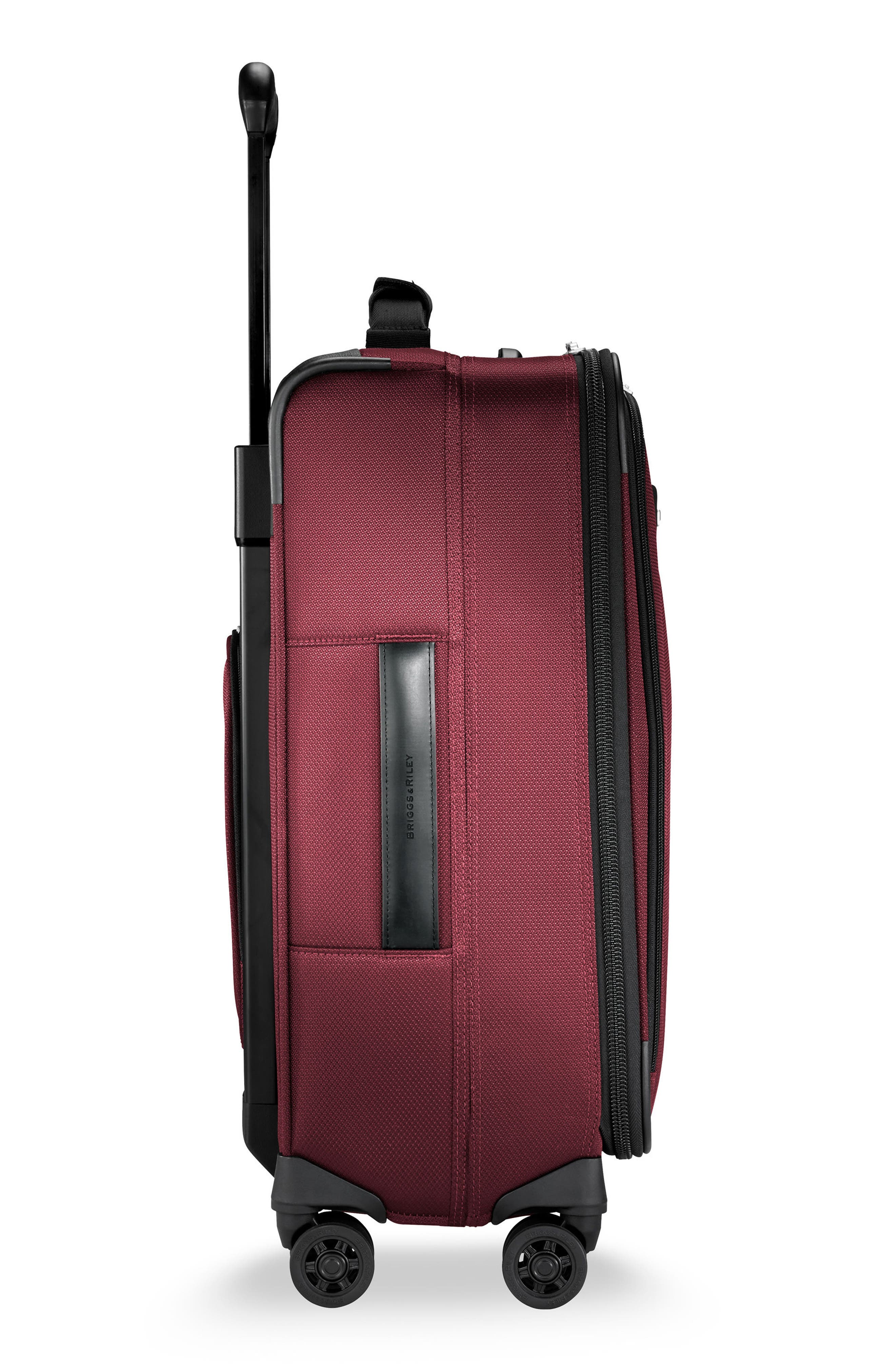 BRIGGS & RILEY, Transcend VX Tall Expandable 22-Inch Spinner Suitcase, Alternate thumbnail 3, color, MERLOT RED