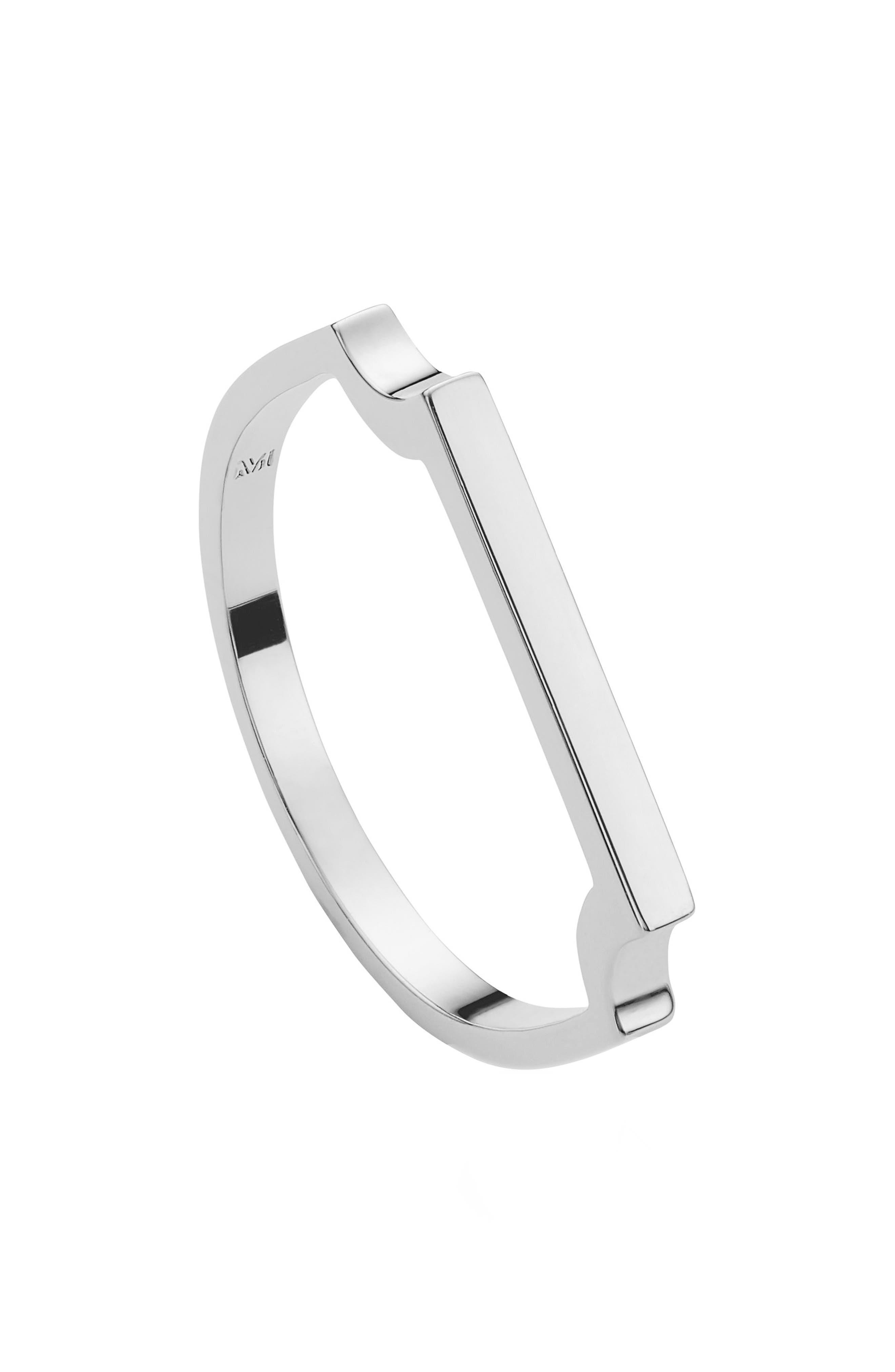 MONICA VINADER, Signature Thin Ring, Alternate thumbnail 2, color, SILVER