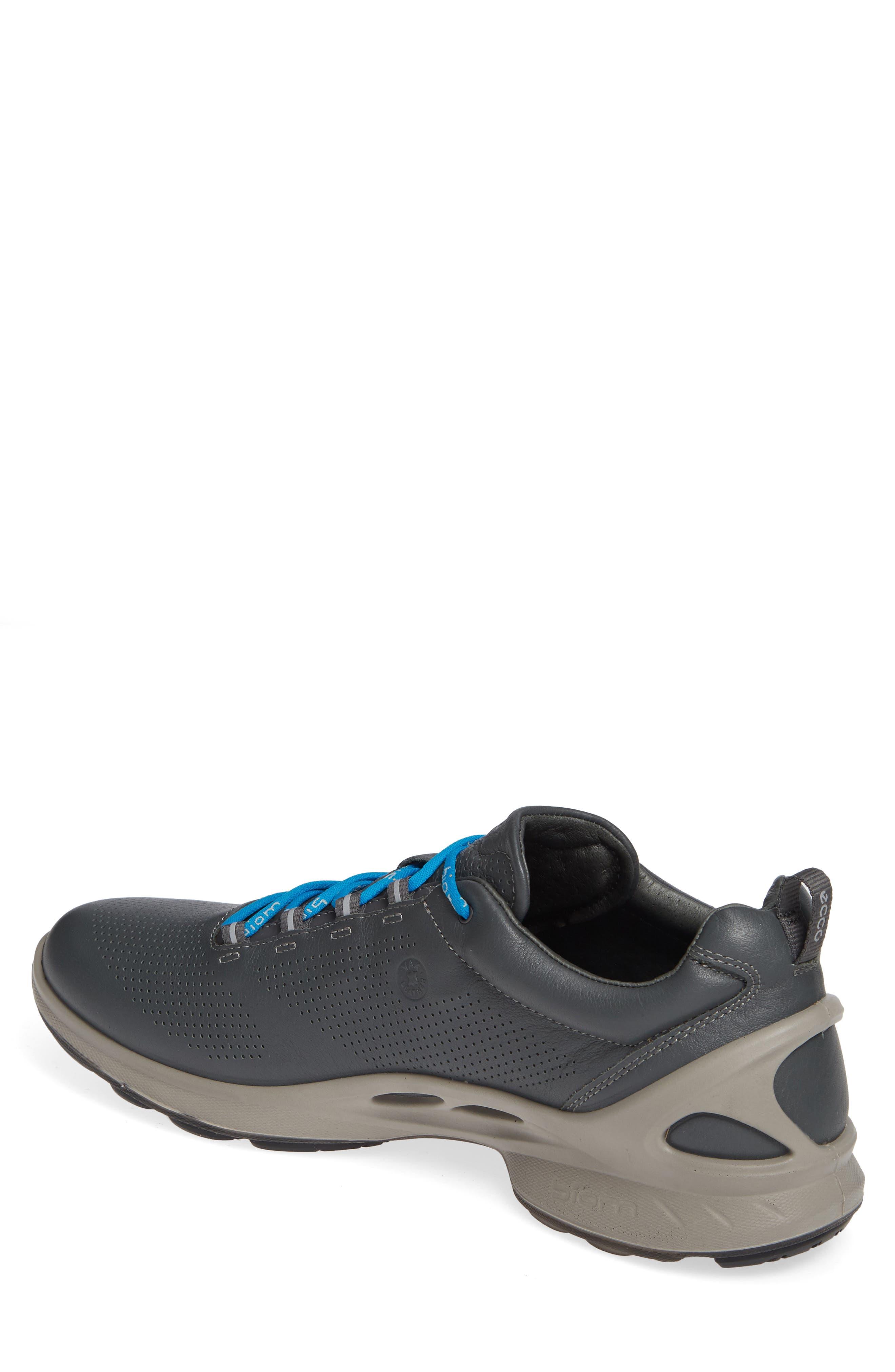 ECCO, 'BIOM Fjuel' Sneaker, Alternate thumbnail 2, color, DARK SHADOW LEATHER