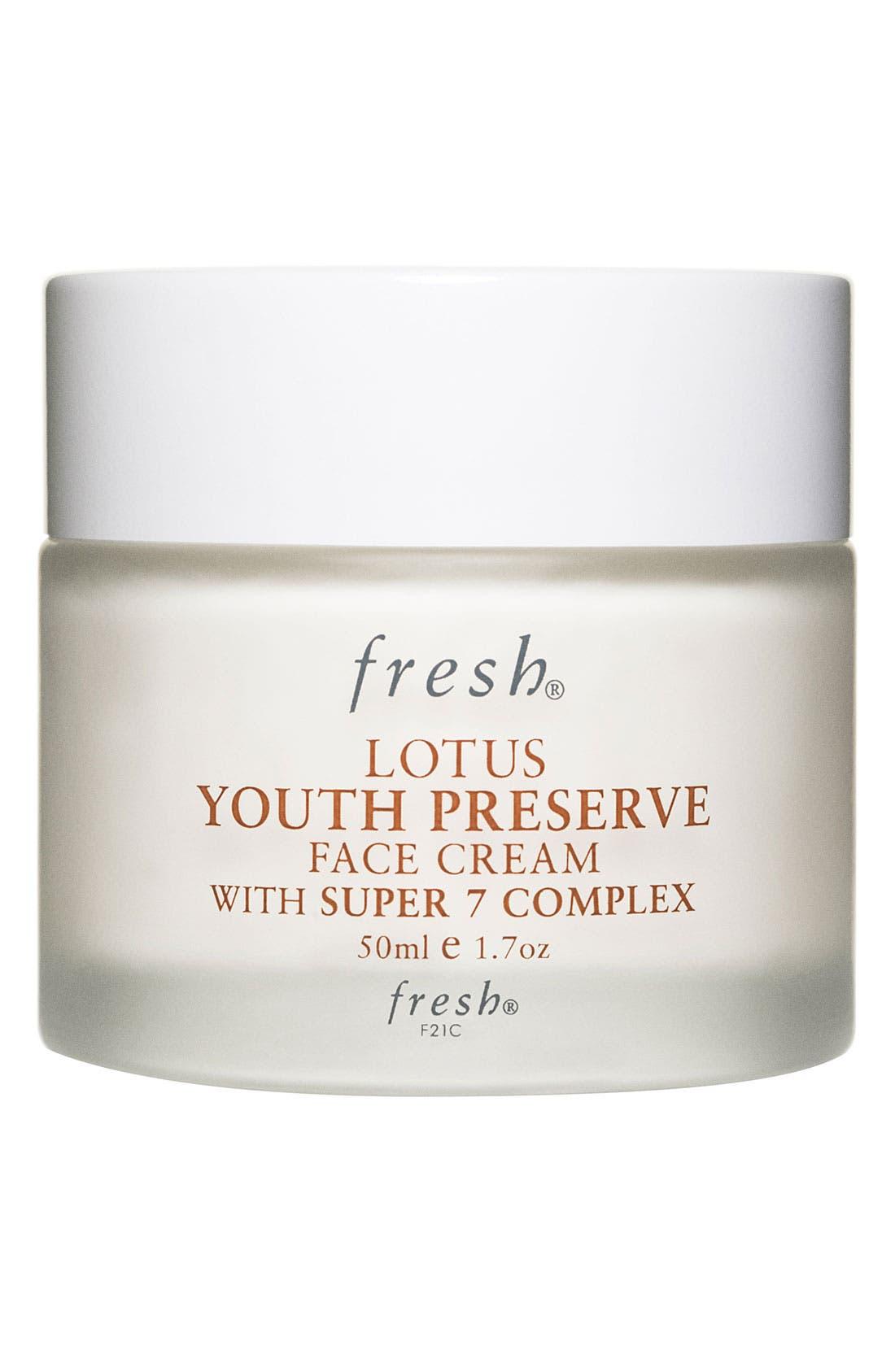 FRESH<SUP>®</SUP>, Lotus Youth Preserve Face Cream, Main thumbnail 1, color, NO COLOR
