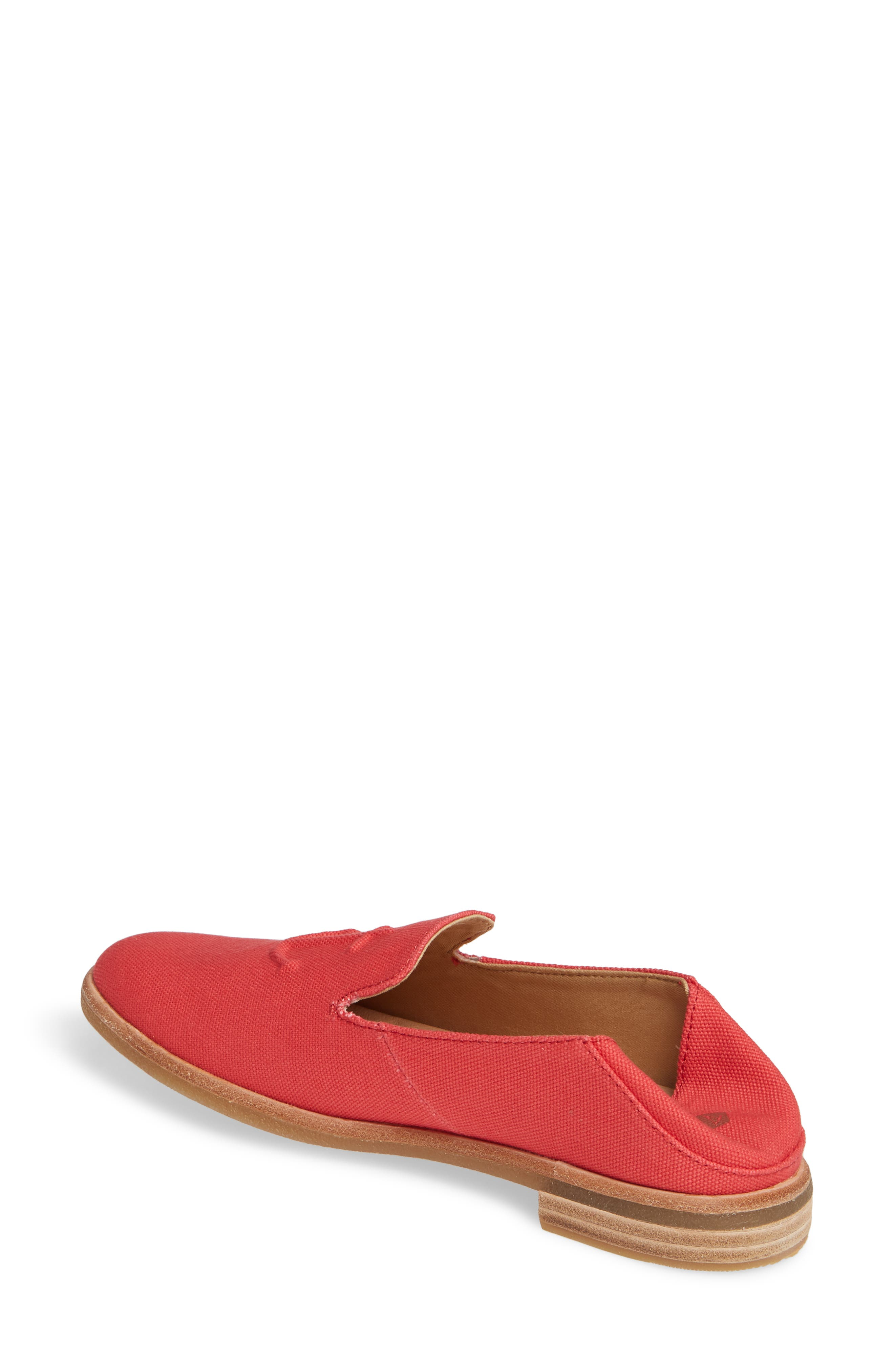 SPERRY, Seaport Levy Flat, Alternate thumbnail 3, color, RED CANVAS