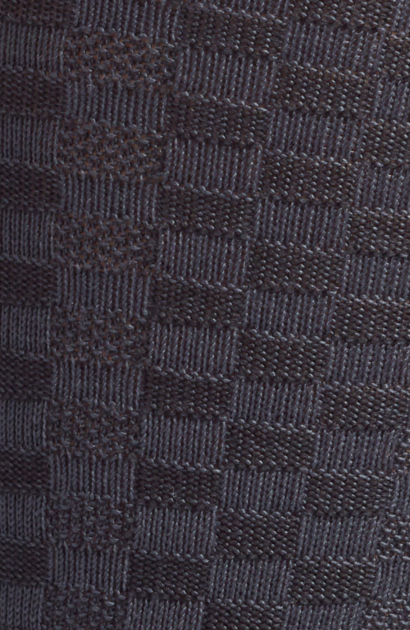NORDSTROM MEN'S SHOP, Mini Check Ultrasoft Socks, Alternate thumbnail 2, color, CHARCOAL MARL