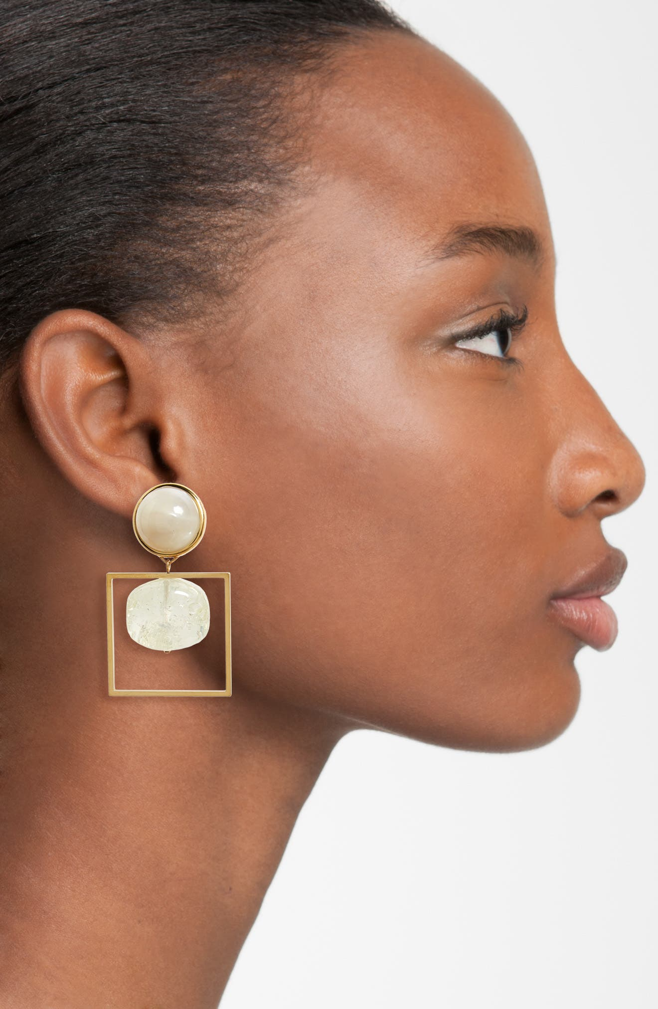 TORY BURCH, Geo Statement Drop Earrings, Alternate thumbnail 2, color, 710