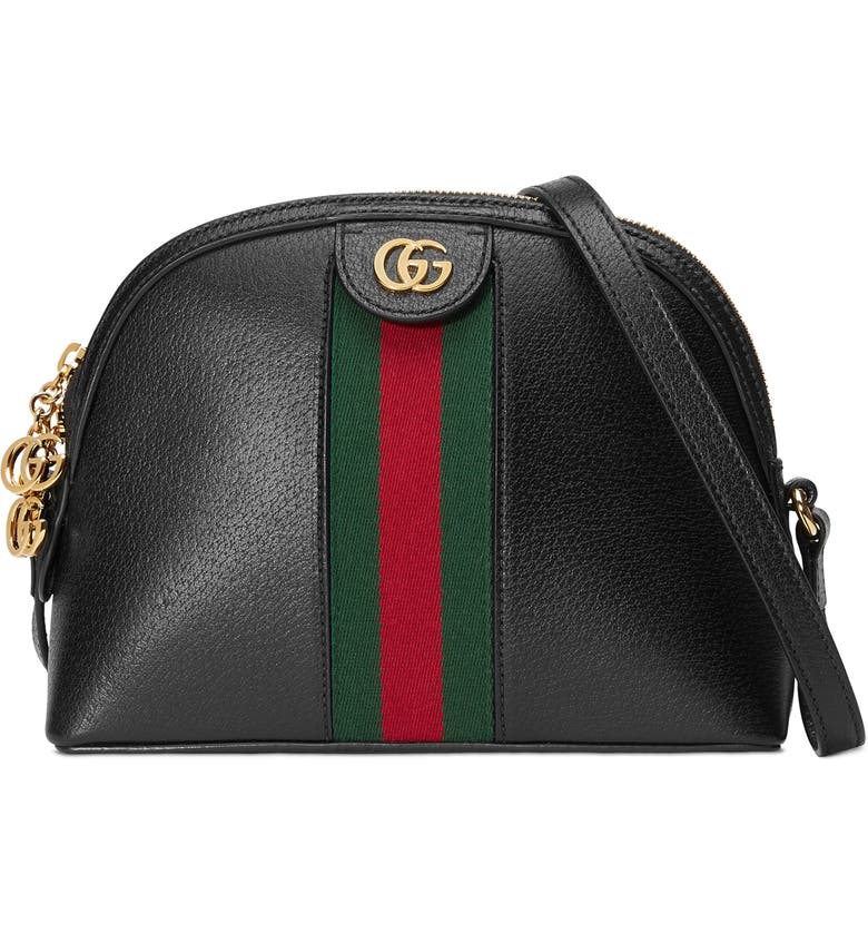c3bb77c8396 Gucci Small Ophidia Leather Shoulder Bag