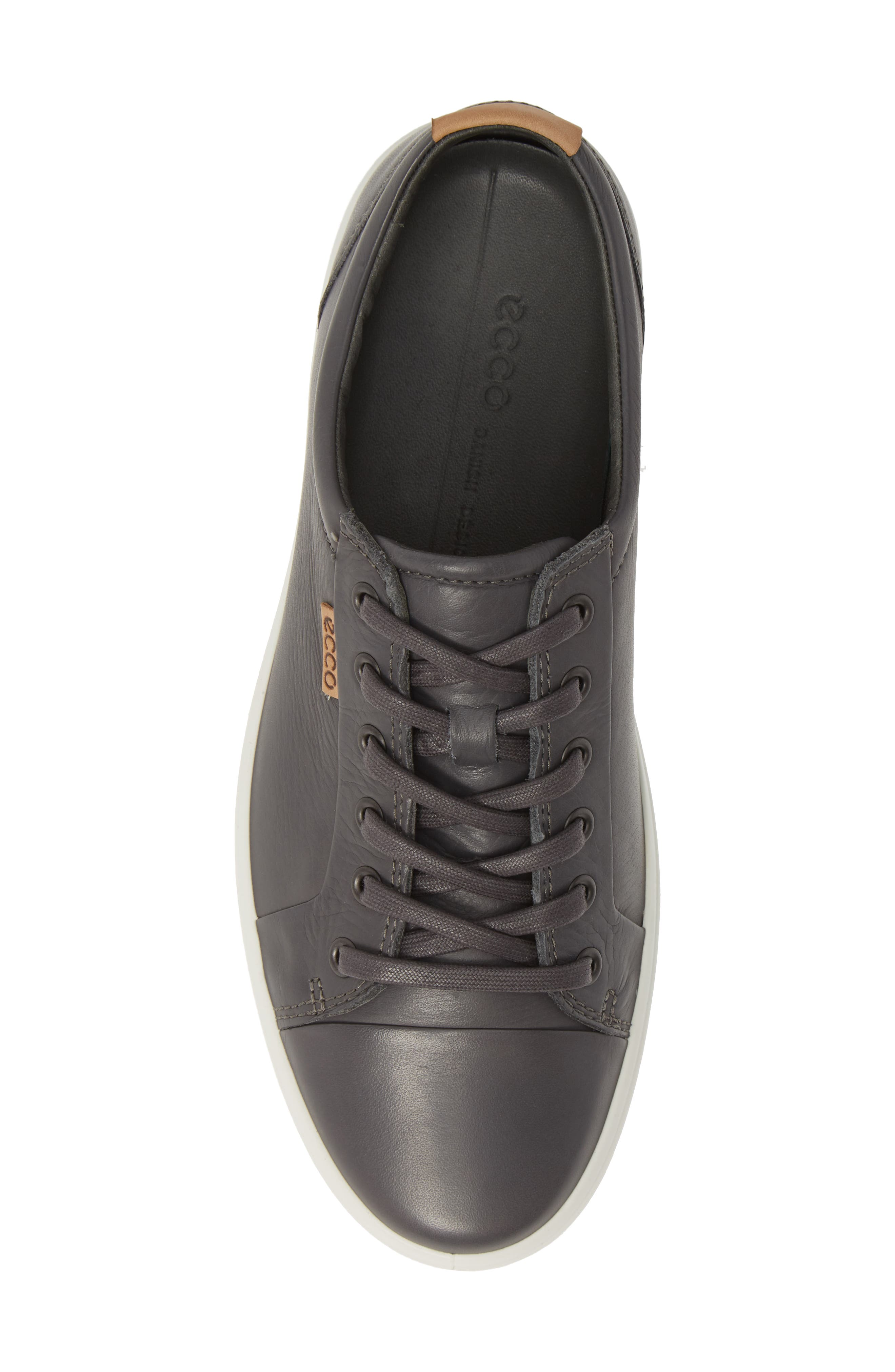 ECCO, Soft VII Lace-Up Sneaker, Alternate thumbnail 5, color, GREY DRAGO