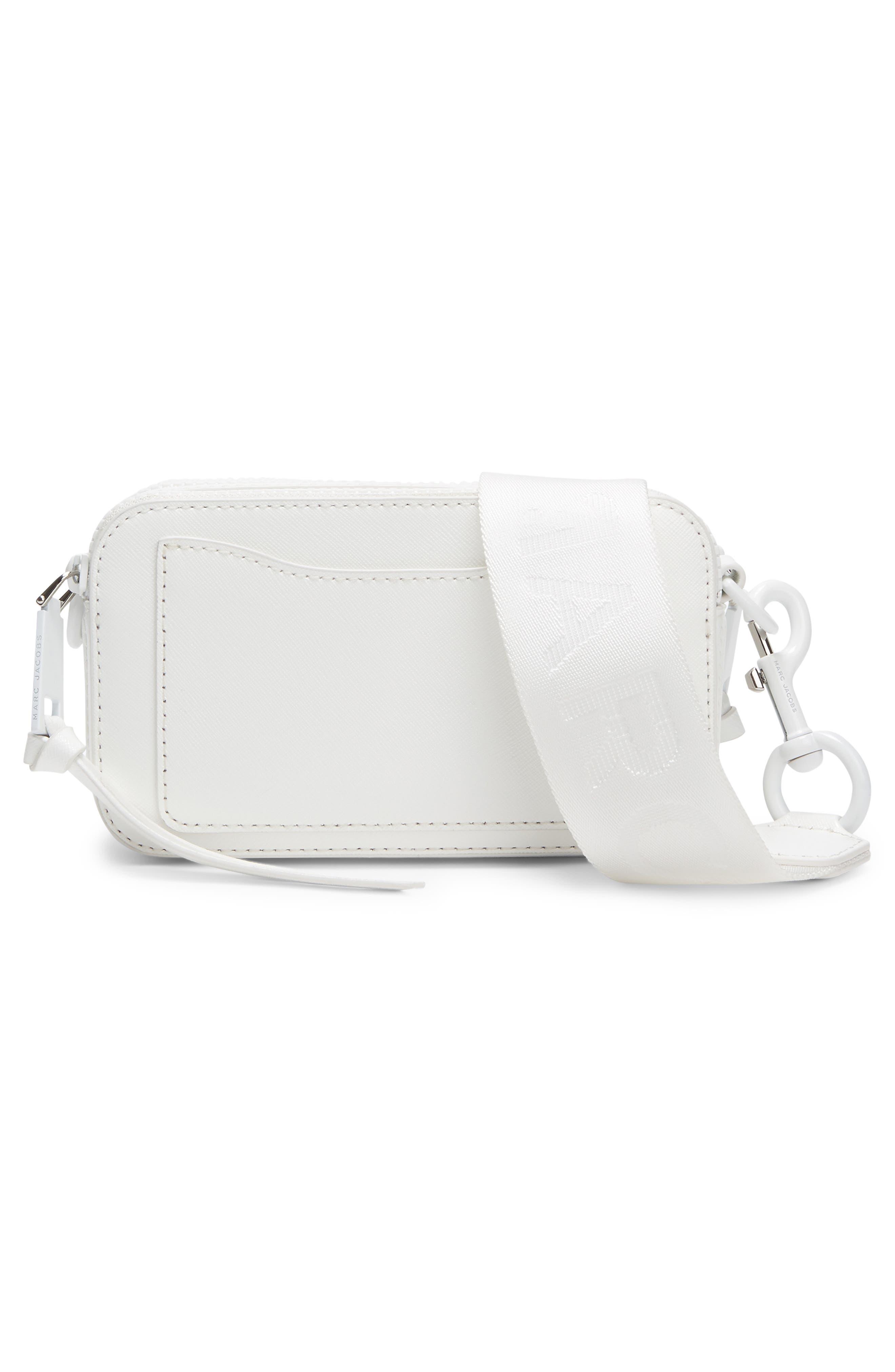 MARC JACOBS, Snapshot Leather Crossbody Bag, Alternate thumbnail 2, color, MOON WHITE
