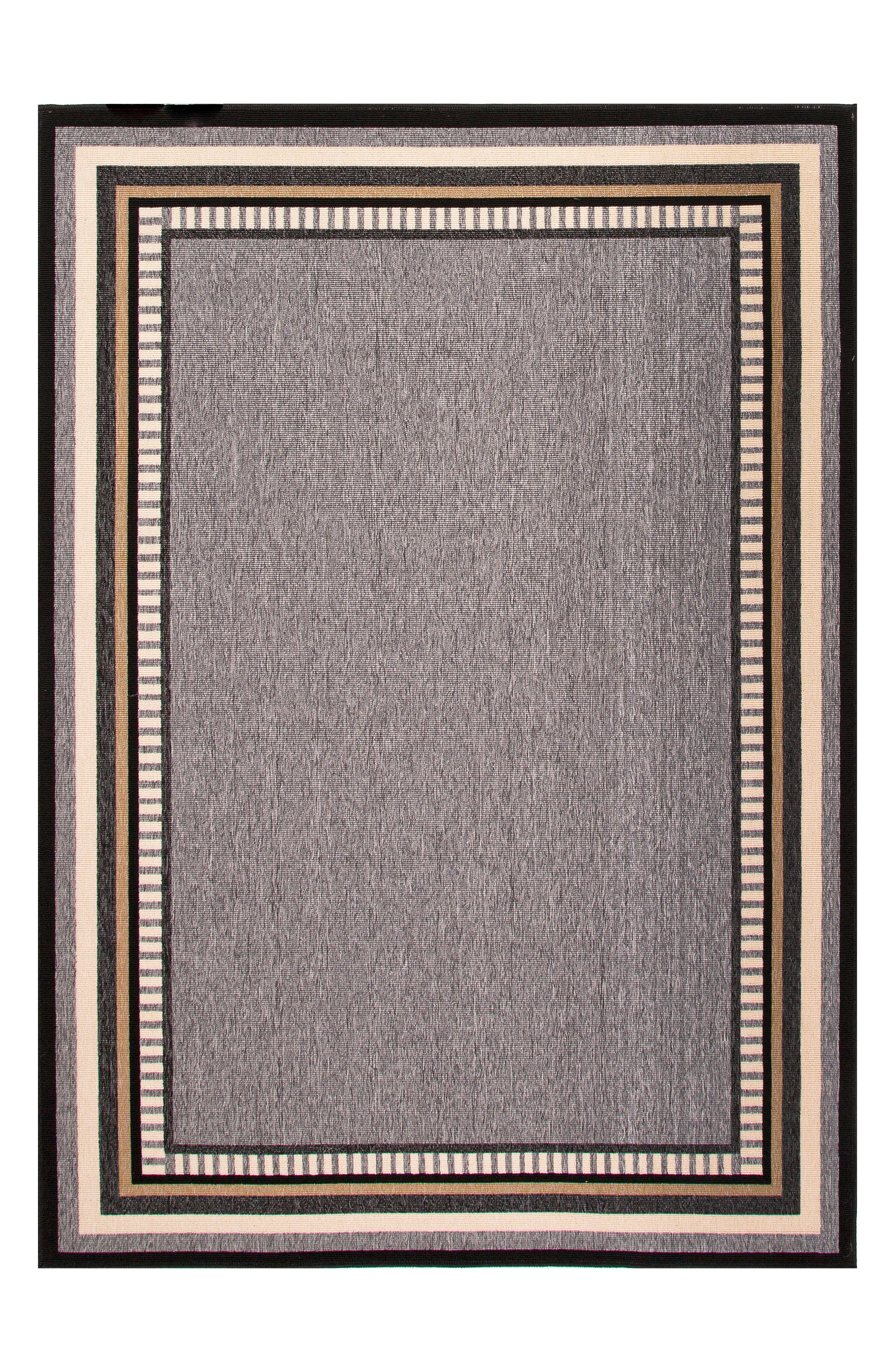 JAIPUR Border Monument Indoor/Outdoor Rug, Main, color, GREY