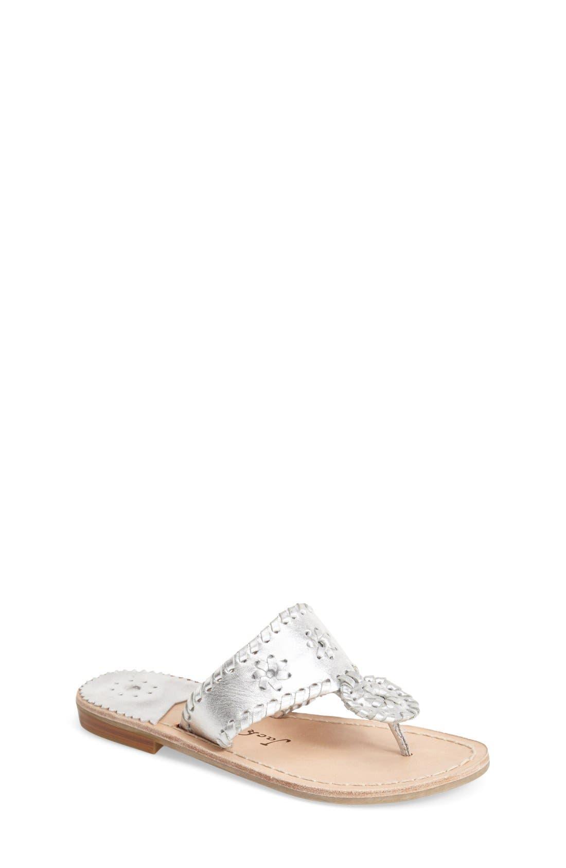JACK ROGERS 'Miss Hamptons' Sandal, Main, color, SILVER