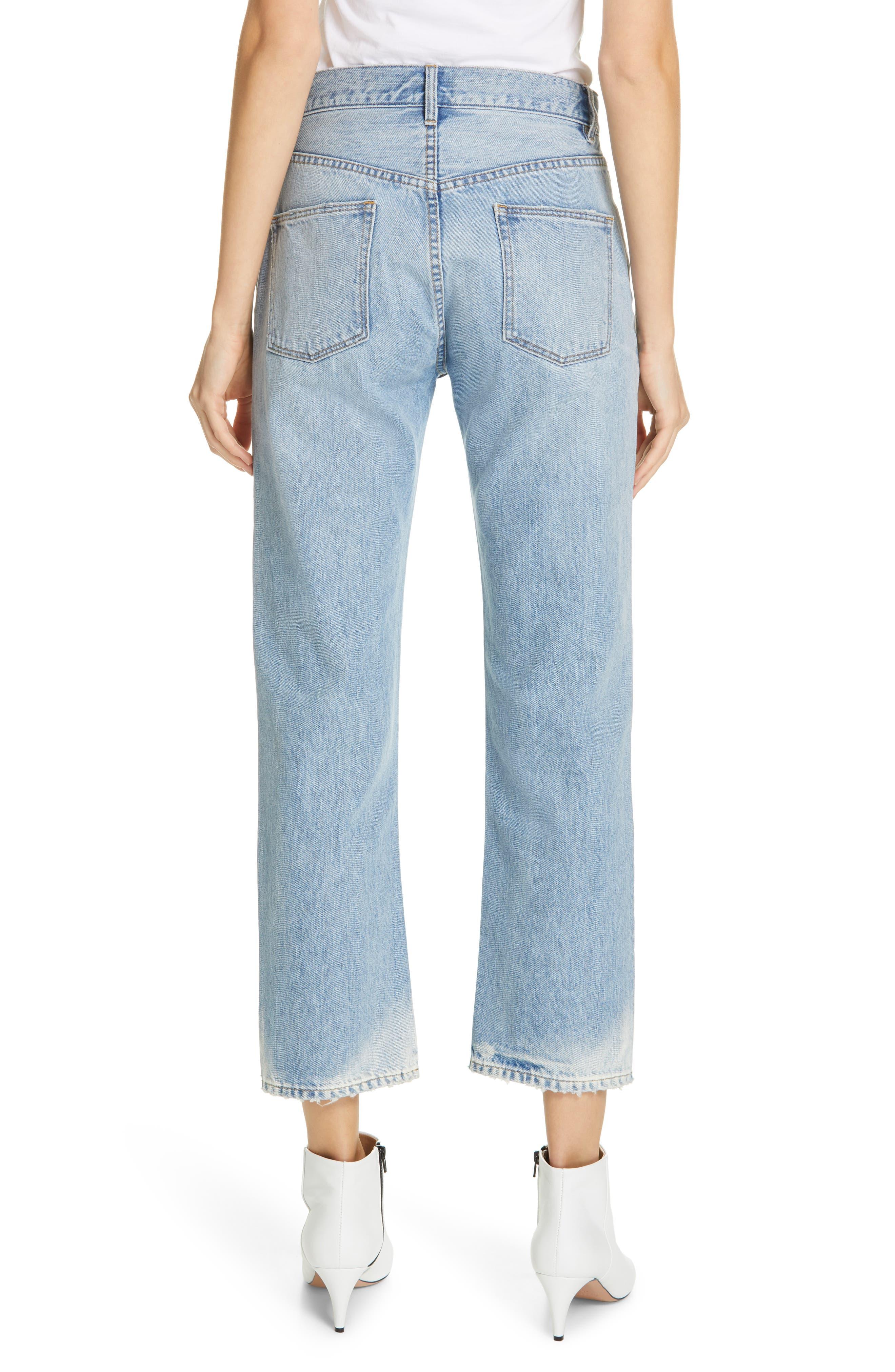 LA VIE REBECCA TAYLOR, Sylvie High Waist Jeans, Alternate thumbnail 2, color, CHANTAL WASH