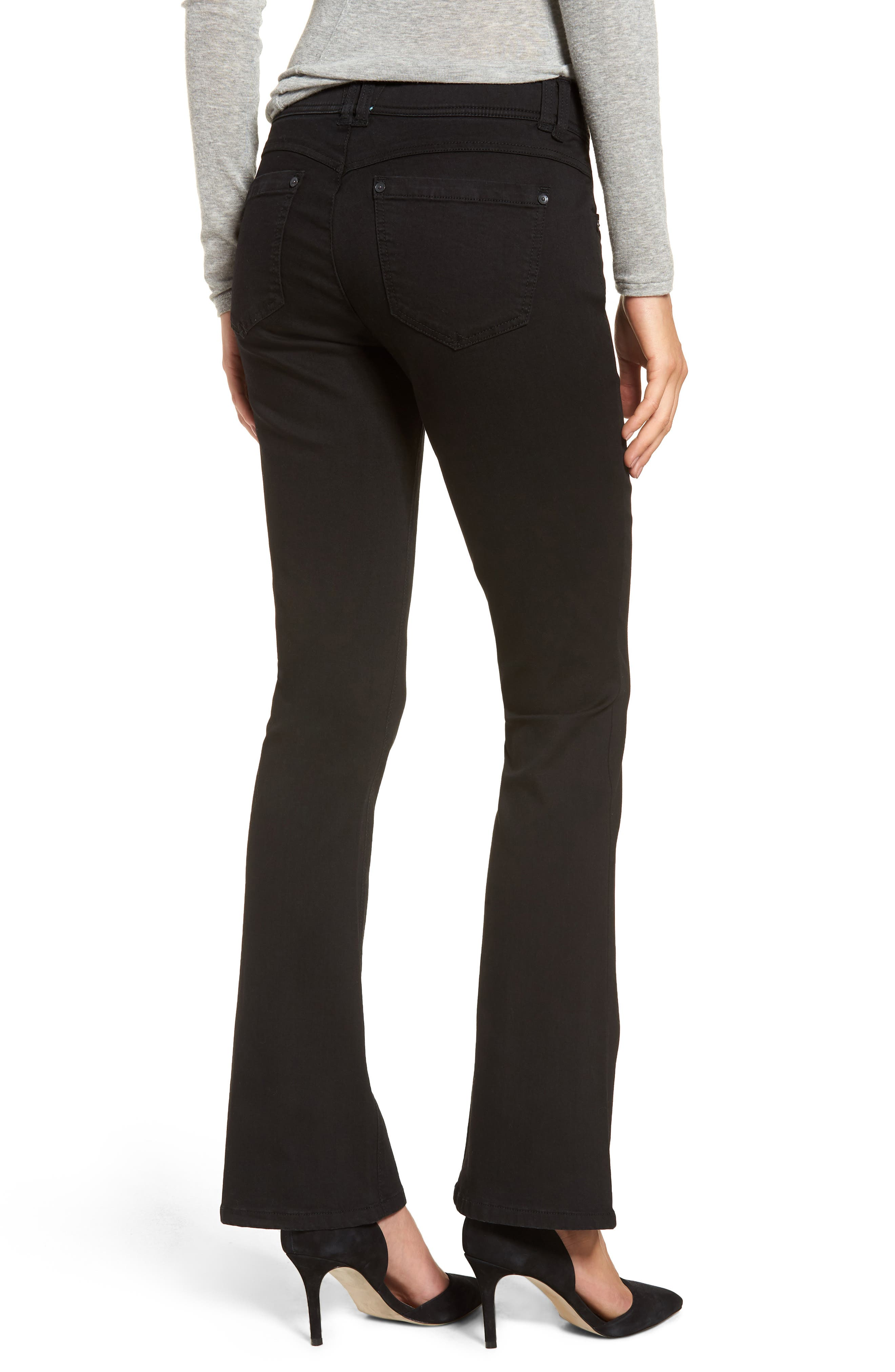WIT & WISDOM, Ab-solution Itty Bitty Bootcut Jeans, Alternate thumbnail 2, color, BLACK