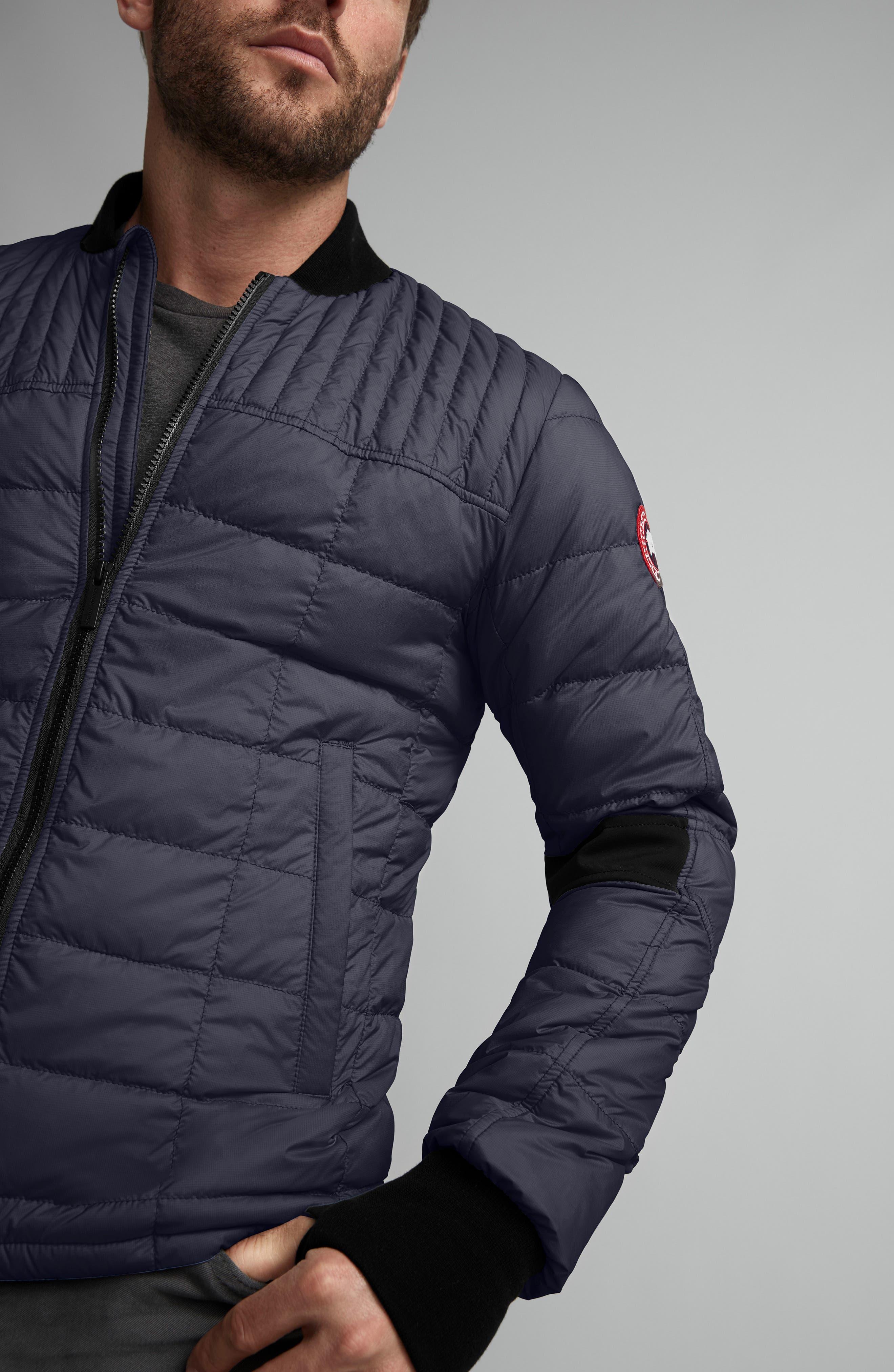 CANADA GOOSE, Dunham Slim Fit Packable Down Jacket, Alternate thumbnail 3, color, NAVY