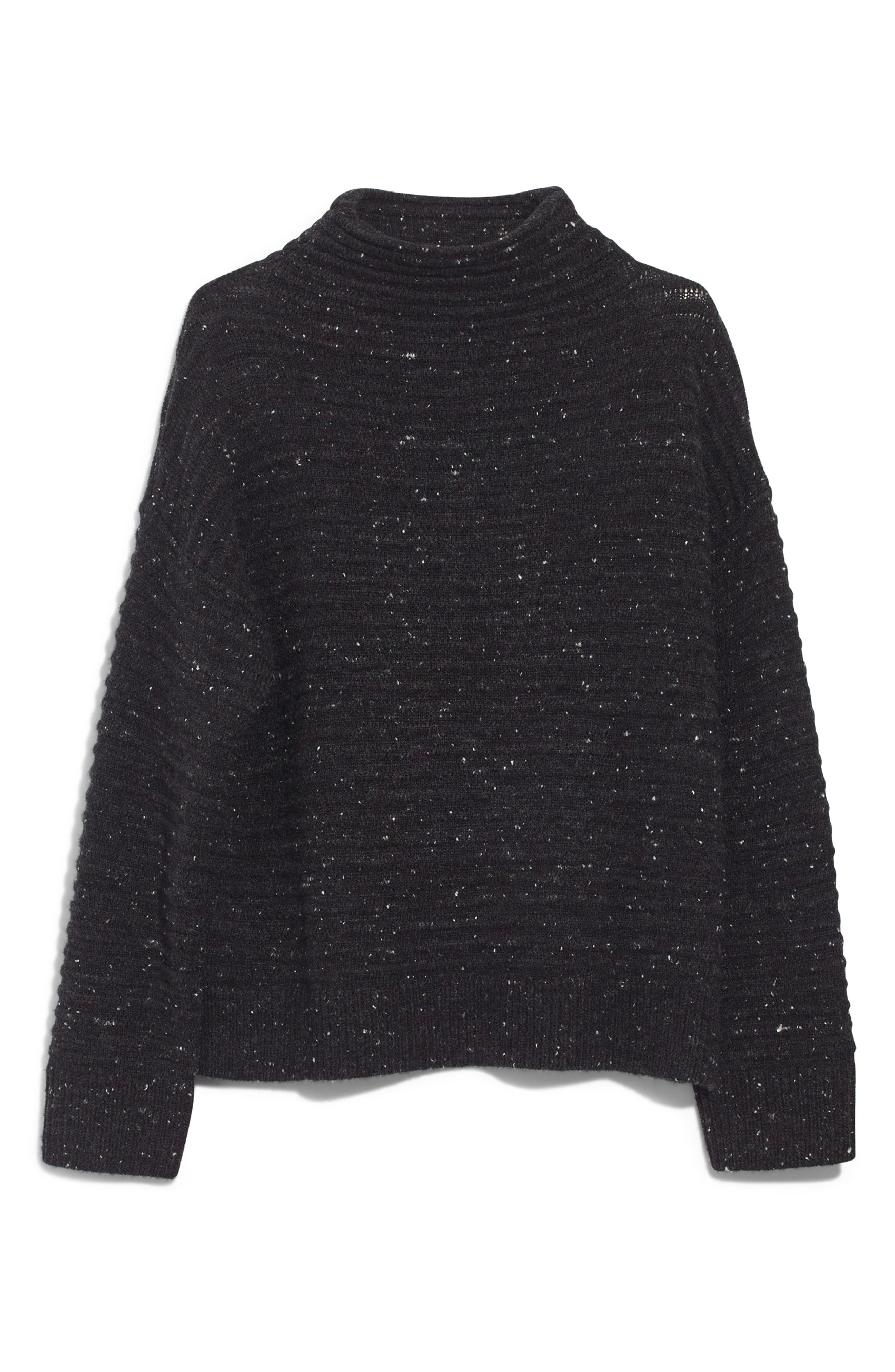 MADEWELL, Belmont Donegal Mock Neck Sweater, Alternate thumbnail 6, color, 020