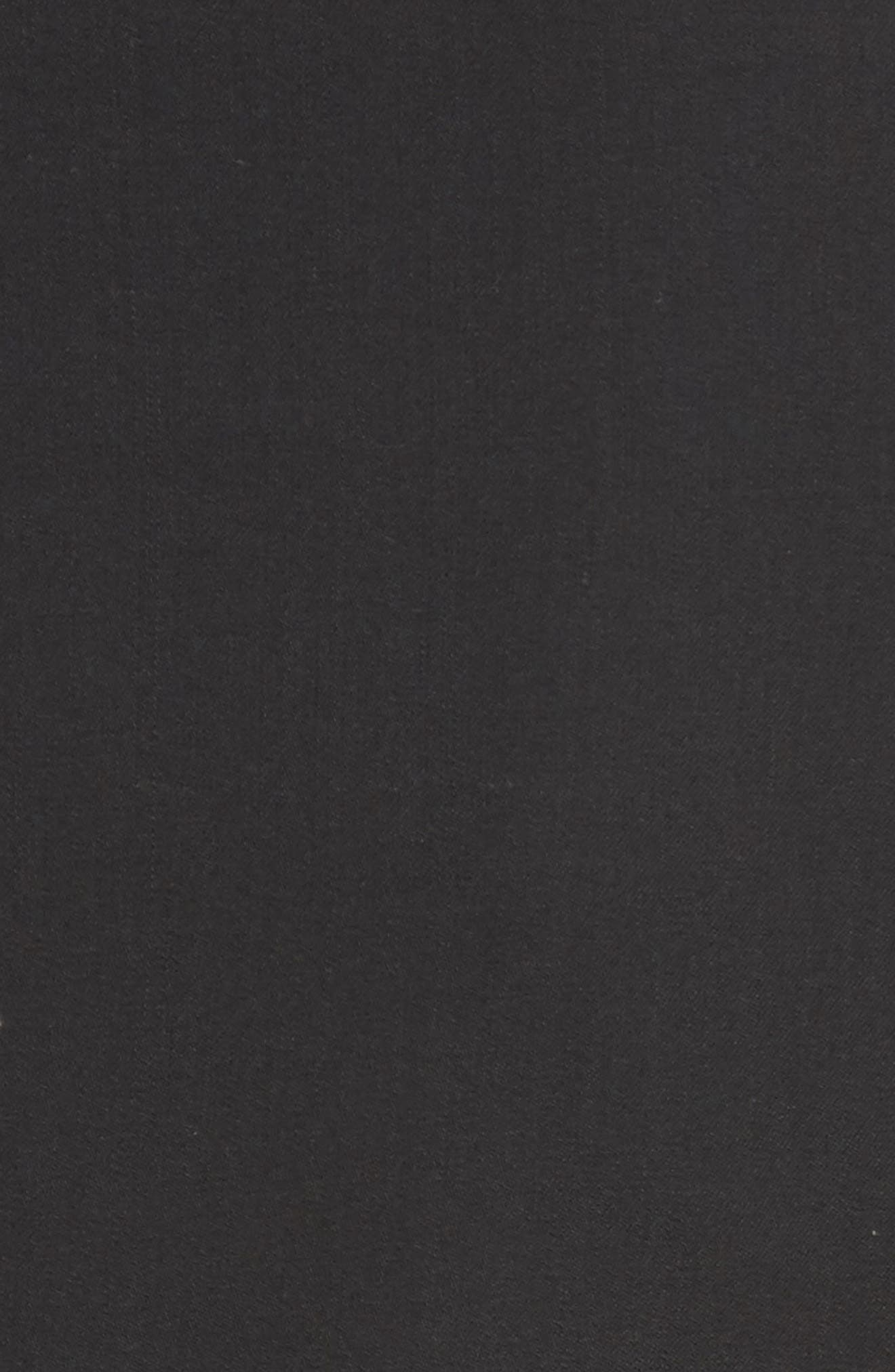 AKRIS PUNTO, Long One-Button Jacket, Alternate thumbnail 7, color, BLACK