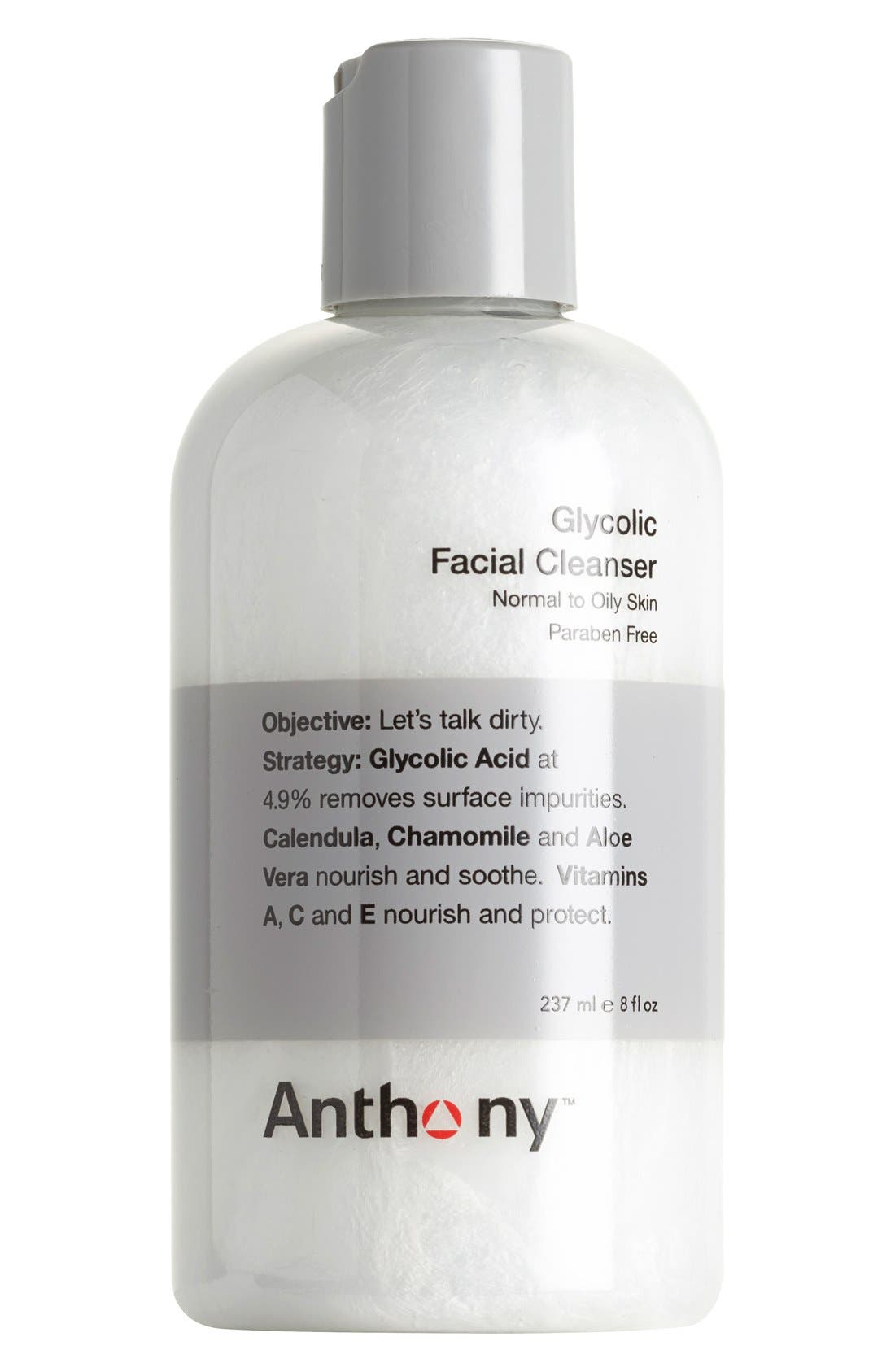 ANTHONY,  Glycolic Facial Cleanser, Main thumbnail 1, color, NO COLOR