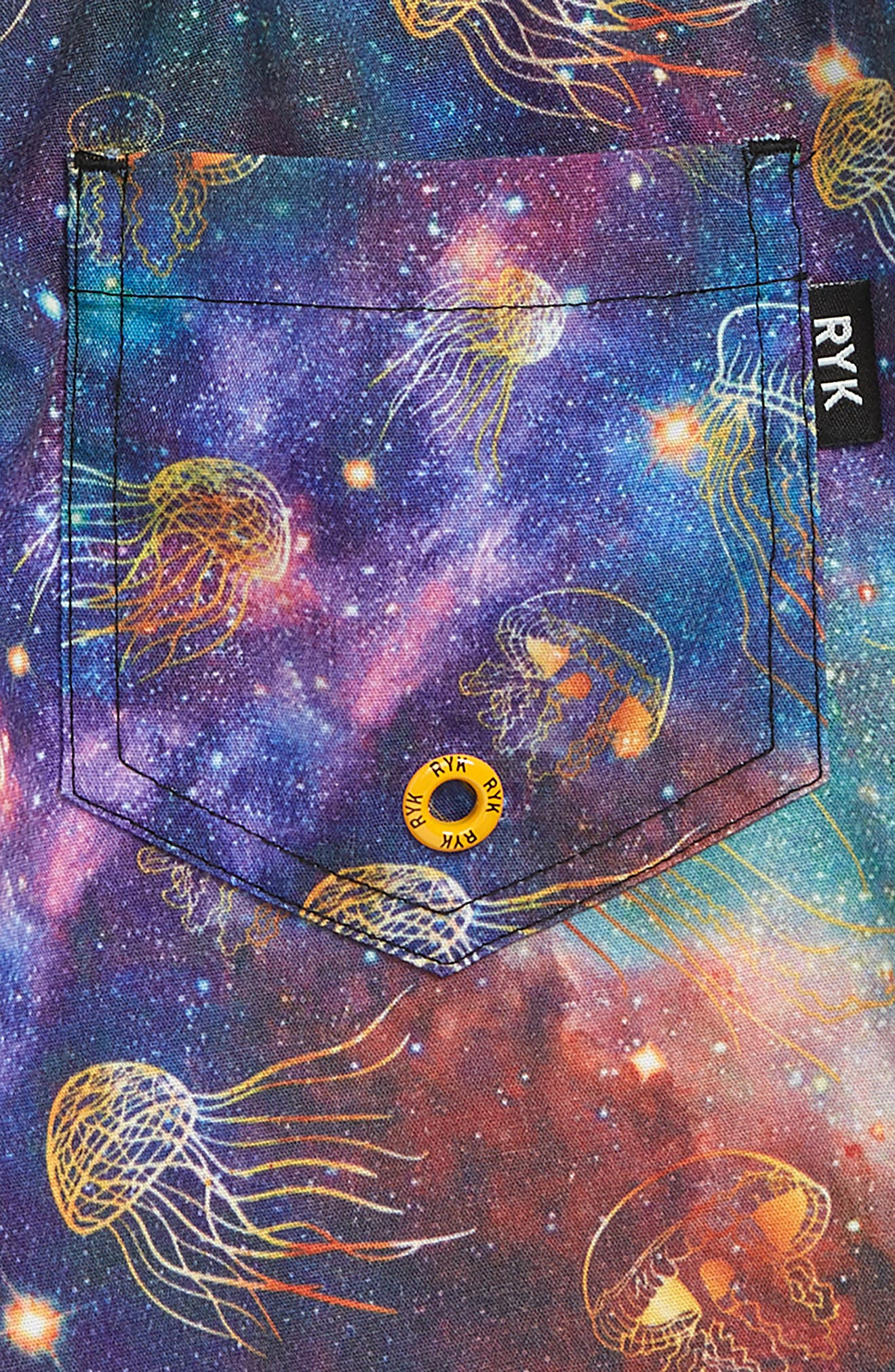 ROCK YOUR KID, Intergalactic Board Shorts, Alternate thumbnail 3, color, BLACK