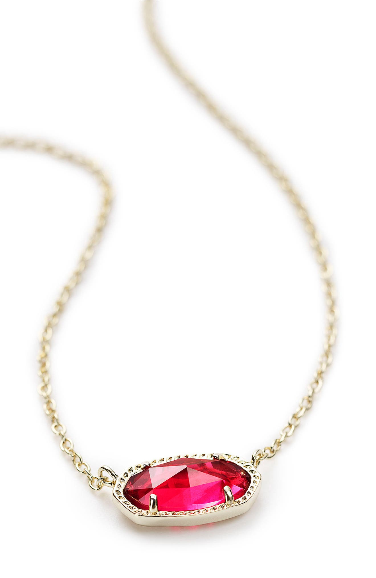 KENDRA SCOTT, Elisa Birthstone Pendant Necklace, Alternate thumbnail 5, color, JANUARY/BERRY/GOLD