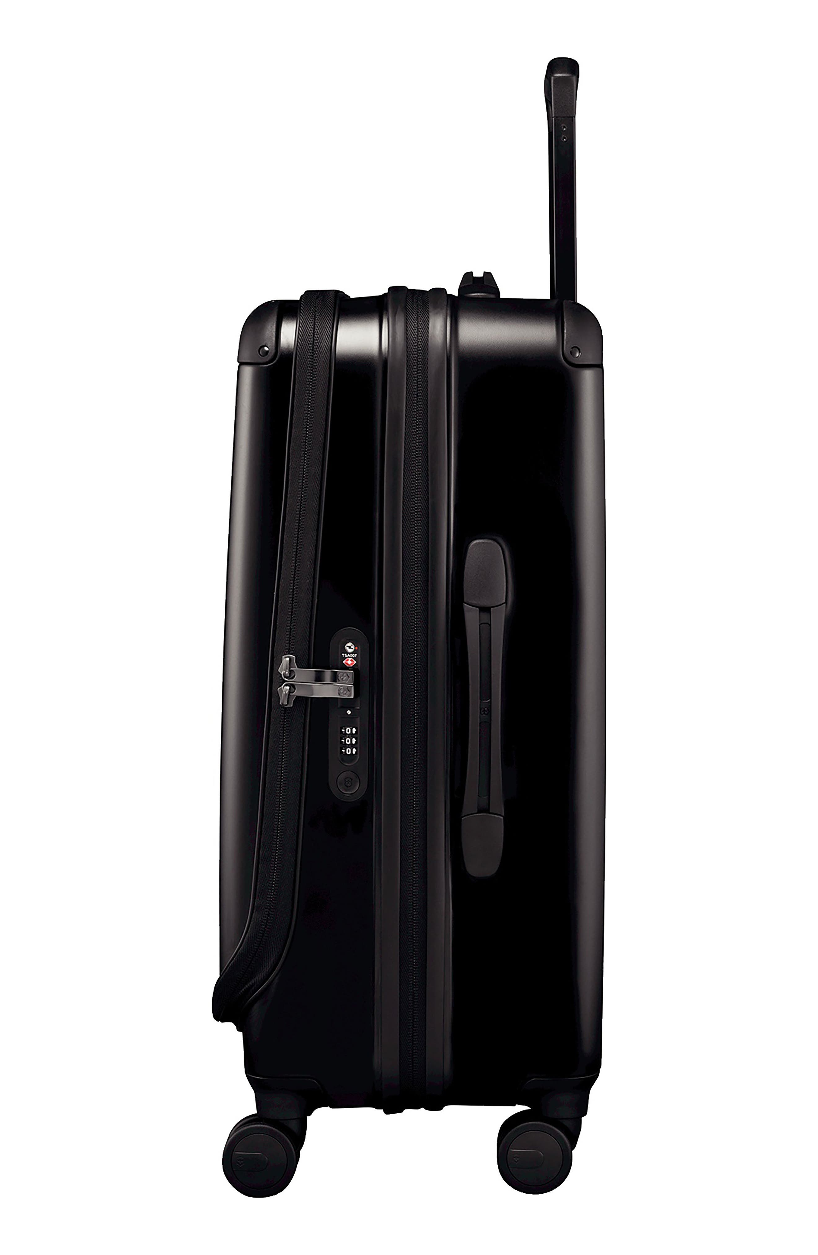 VICTORINOX SWISS ARMY<SUP>®</SUP>, Spectra 2.0 Hard Sided Rolling 27-Inch Travel Suitcase, Alternate thumbnail 3, color, BLACK