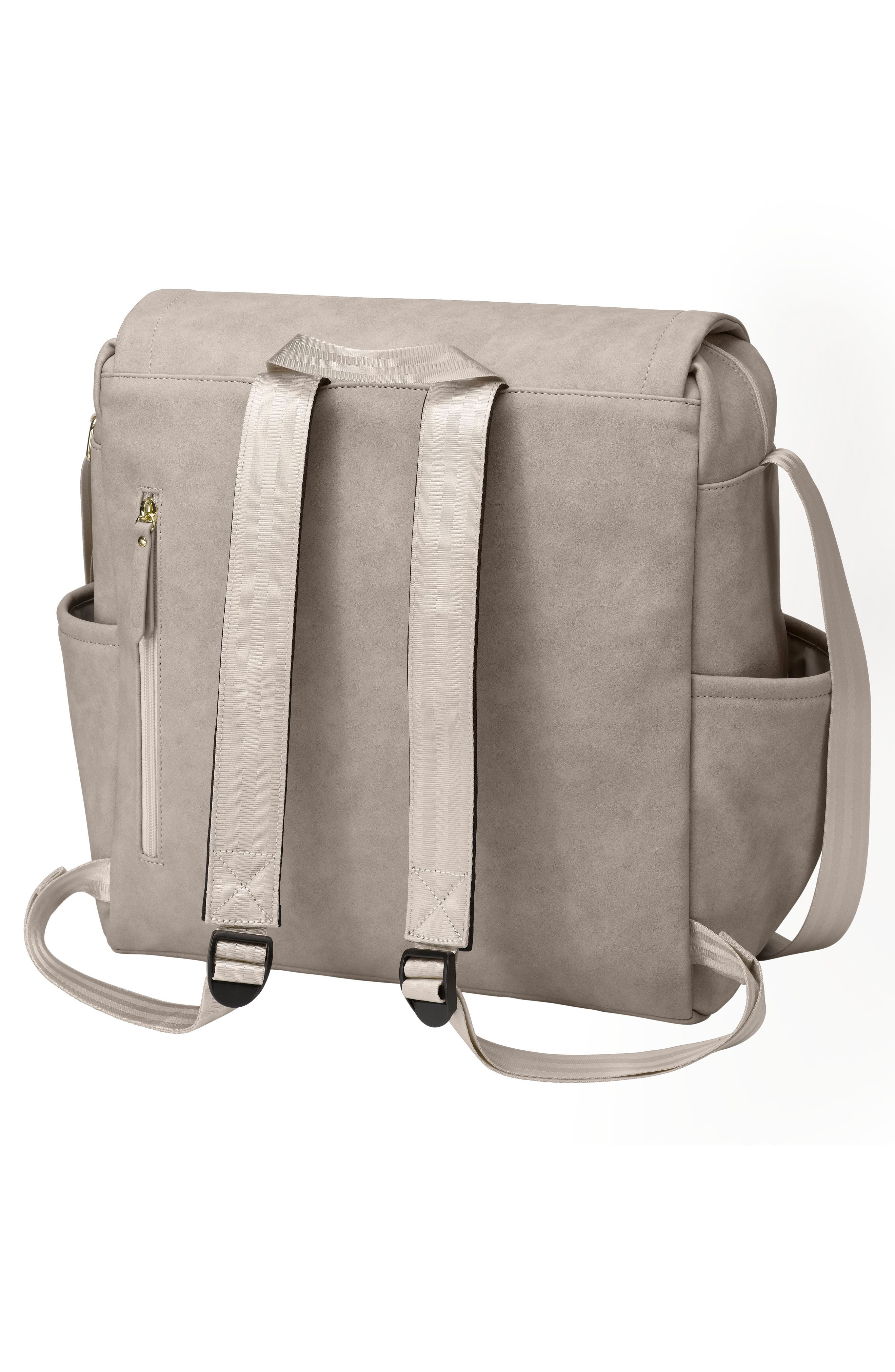 PETUNIA PICKLE BOTTOM, Boxy Backpack Diaper Bag, Alternate thumbnail 2, color, GREY MATTE LEATHERETTE